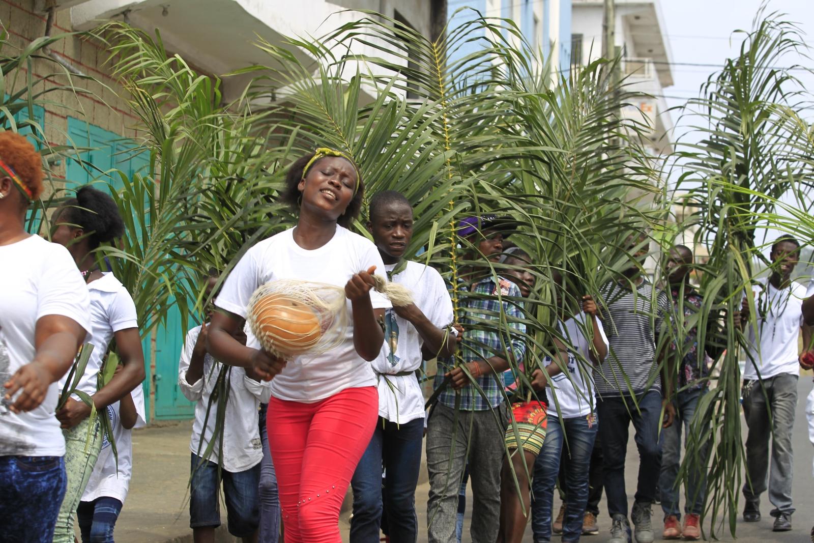Niedziela Palmowa w Liberii.