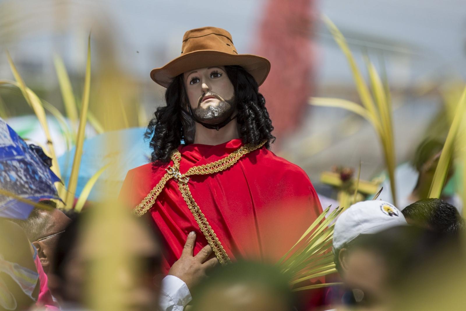 Niedziela Palmowa w Managui, Nikaragua.