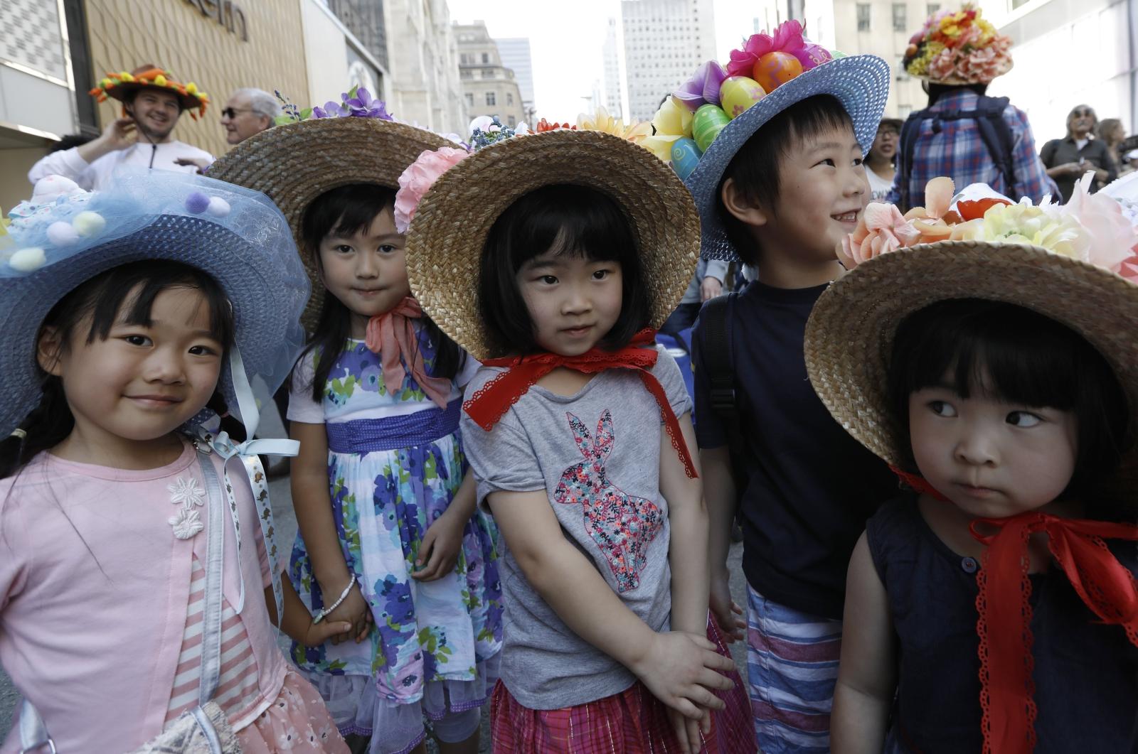 Dzieci w czasie wielkanocnej parady w Nowym Jorku.