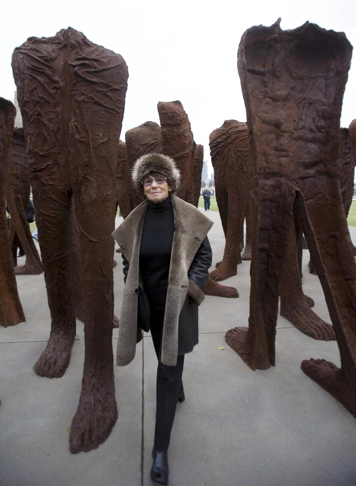 Zmarła artystka Magdalena Abakanowicz. Fot. PAP/EPA/TANNEN MAURY