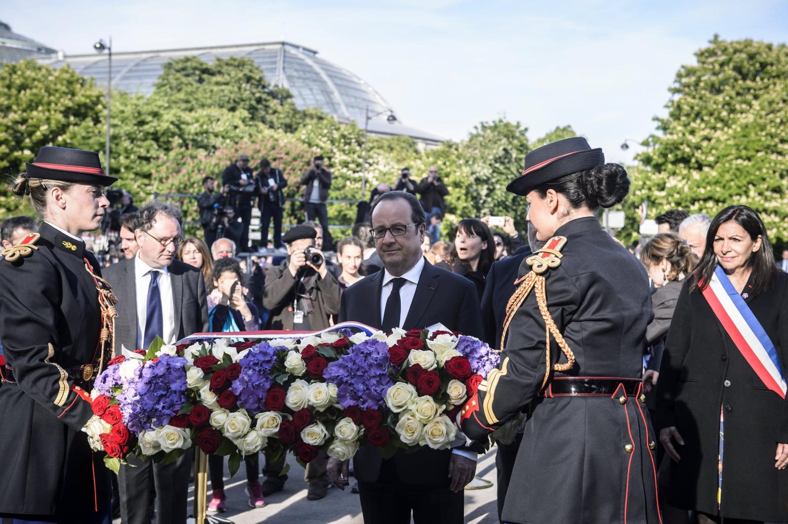 Francuski prezydent Francois Hollande w czasie upamiętnienia 102, rocznicy ludobójstwa Ormian.