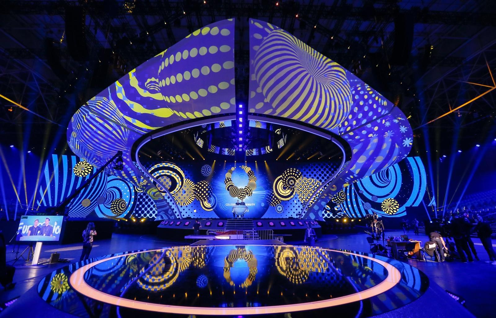 Ukraina: przygotowania do konkursju Eurowizja. Fot. PAP/EPA/SERGEY DOLZHENKO
