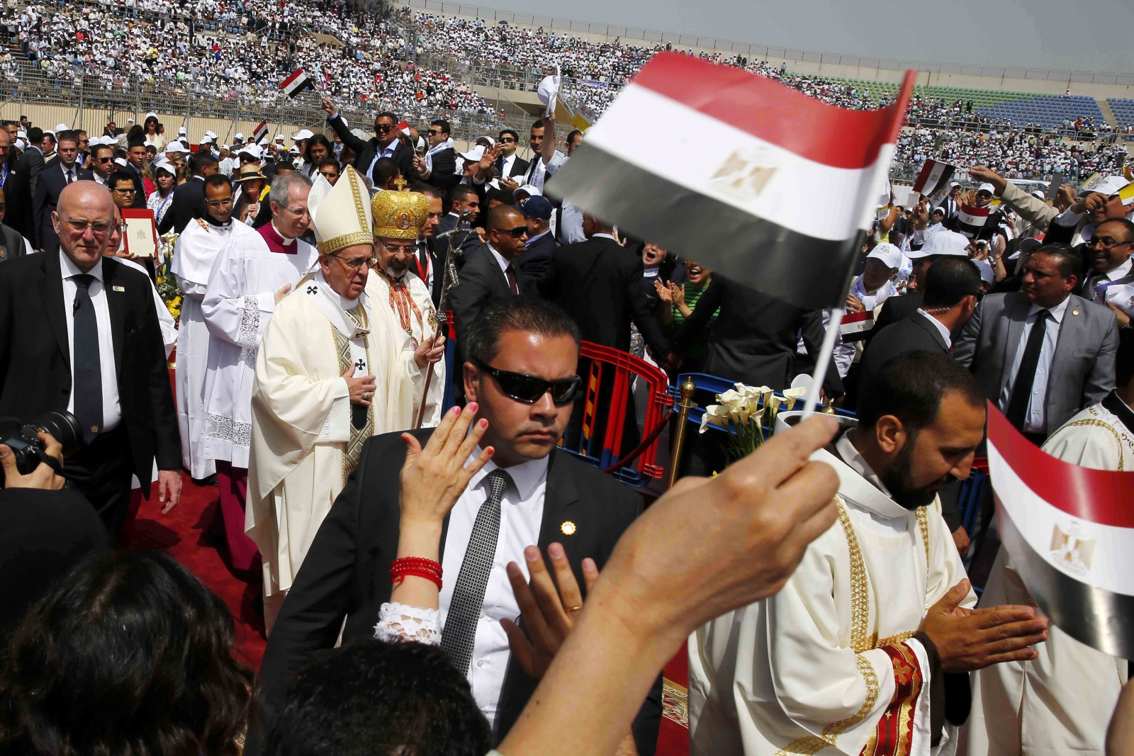 Papież Franciszek w Egipcie. fot. EPA/HOSSAM DIAB / EGYPTIAN CATHOLIC MEDIA CENTER / POOL