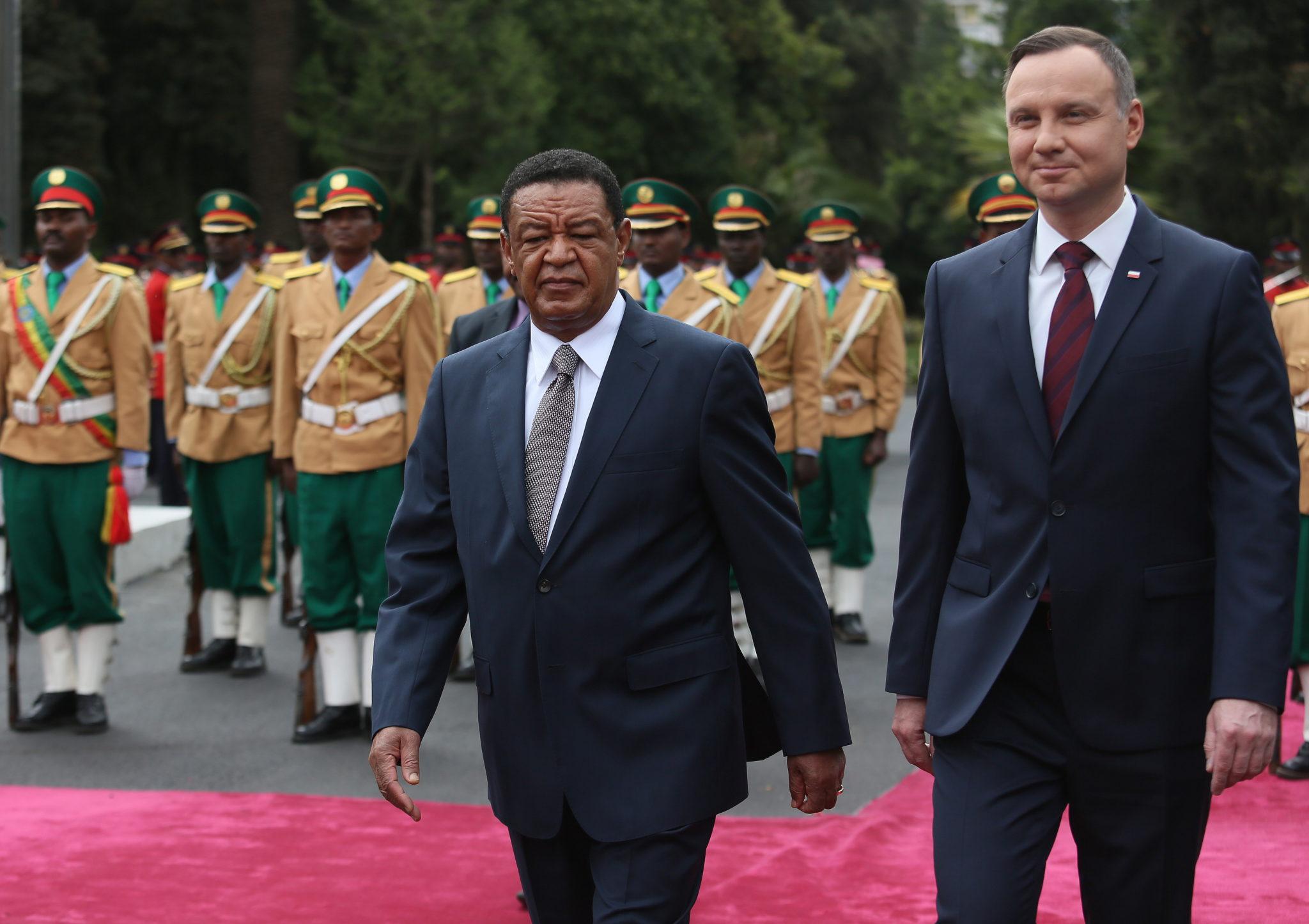 Etiopia: wizyta Prezydenta Polski Andrzeja Dudy Addis Abeba (foto. PAP/Leszek Szymański)