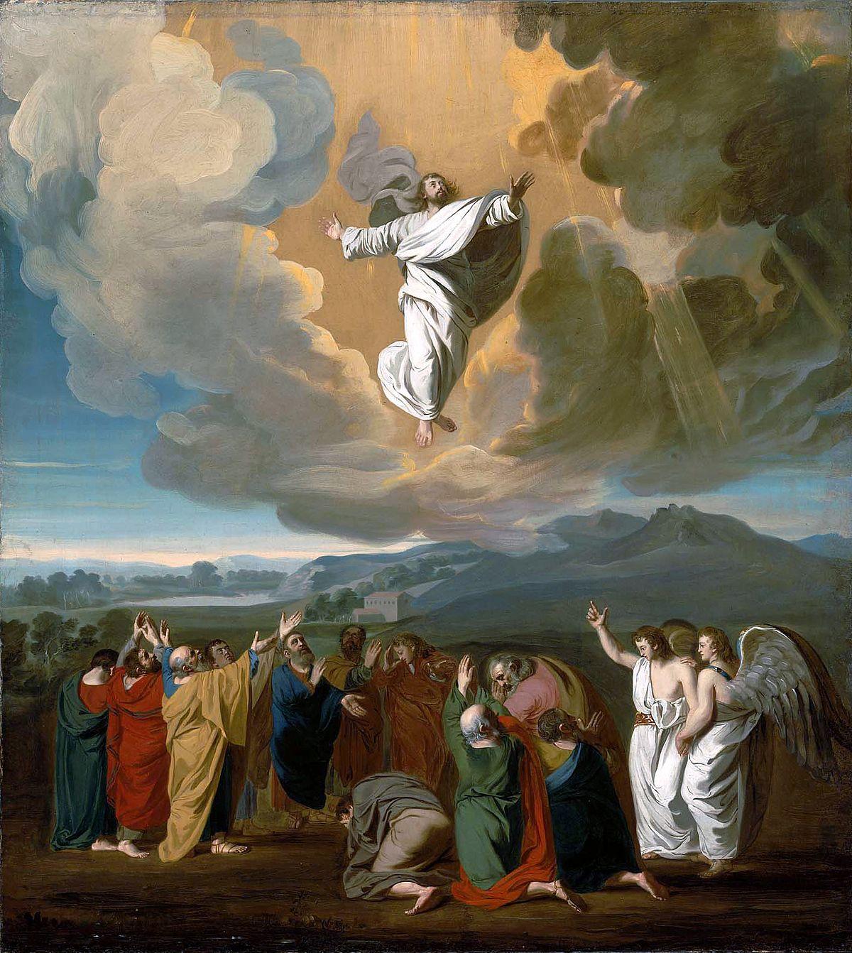 Kiedy jeszcze wpatrywali się w Niego, jak wstępował do nieba, przystąpili do nich dwaj mężowie w białych szatach. I rzekli: «Mężowie z Galilei, dlaczego stoicie i wpatrujecie się w niebo? Ten Jezus, wzięty od was do nieba, przyjdzie tak samo, jak widzieliście Go wstępującego do nieba»