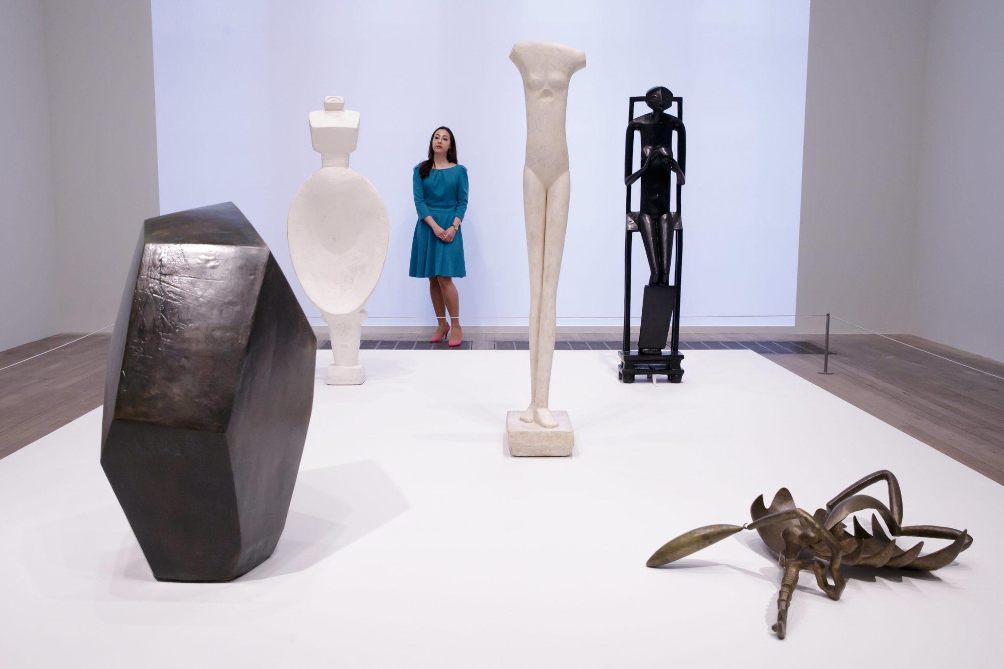 Anglia: wystawa prac Alberto Giacomettiego w Muzeum Modernizmu w Londynie (foto. PAP/EPA/Tim Ireland)