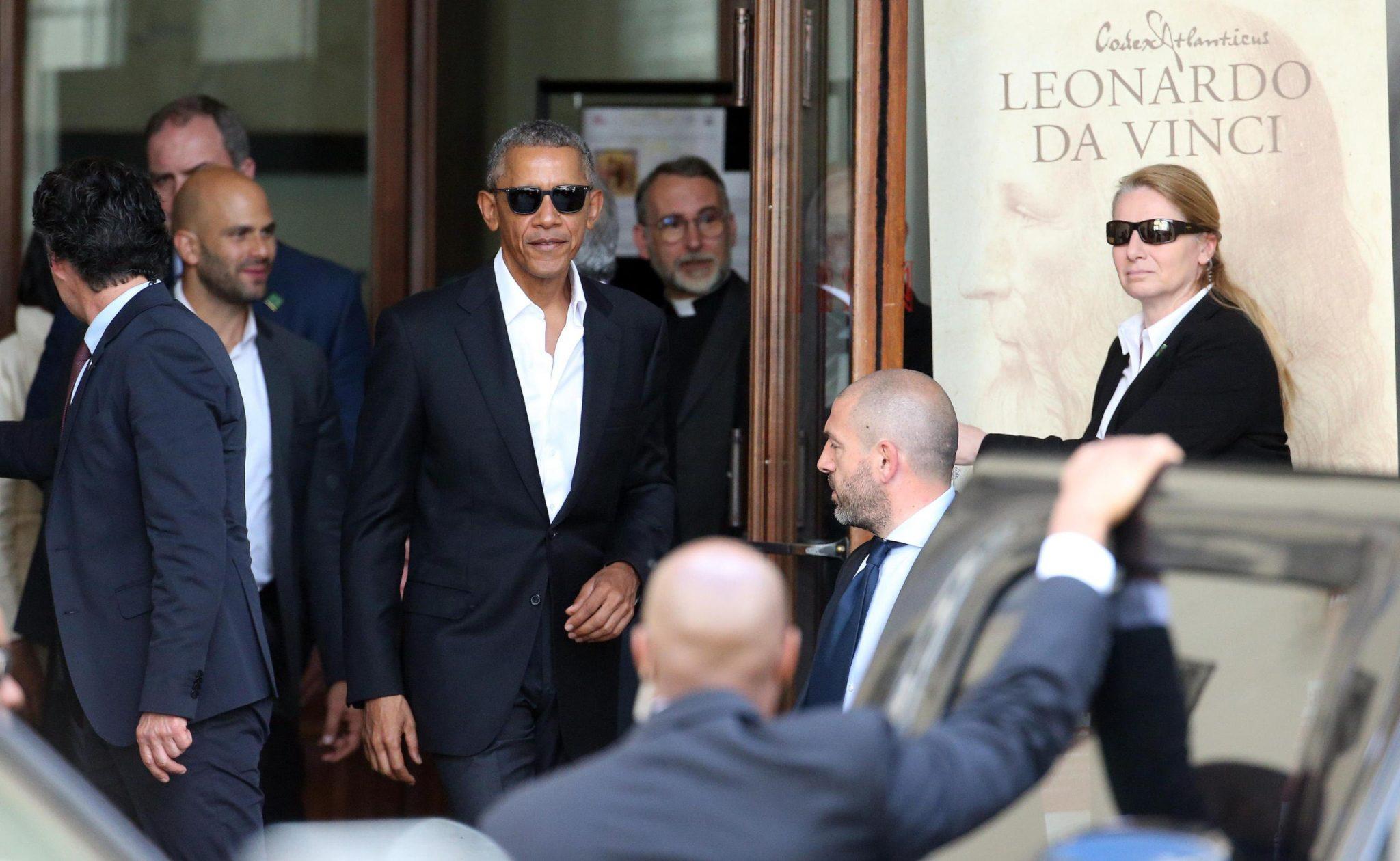 Włochy: Barrack Obama w Mediolanie (foto. PAP/EPA/MATTEO BAZZI)