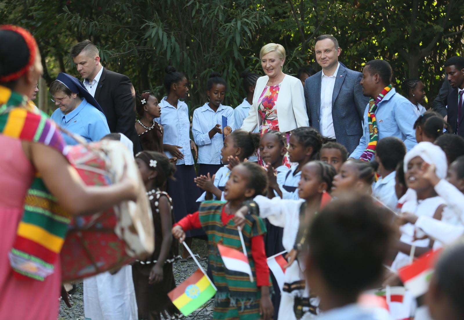 Prezydent Andrzej Duda z małżonką Agatą Kornhauser-Dudą rozpoczęli wizytę w Etiopii.