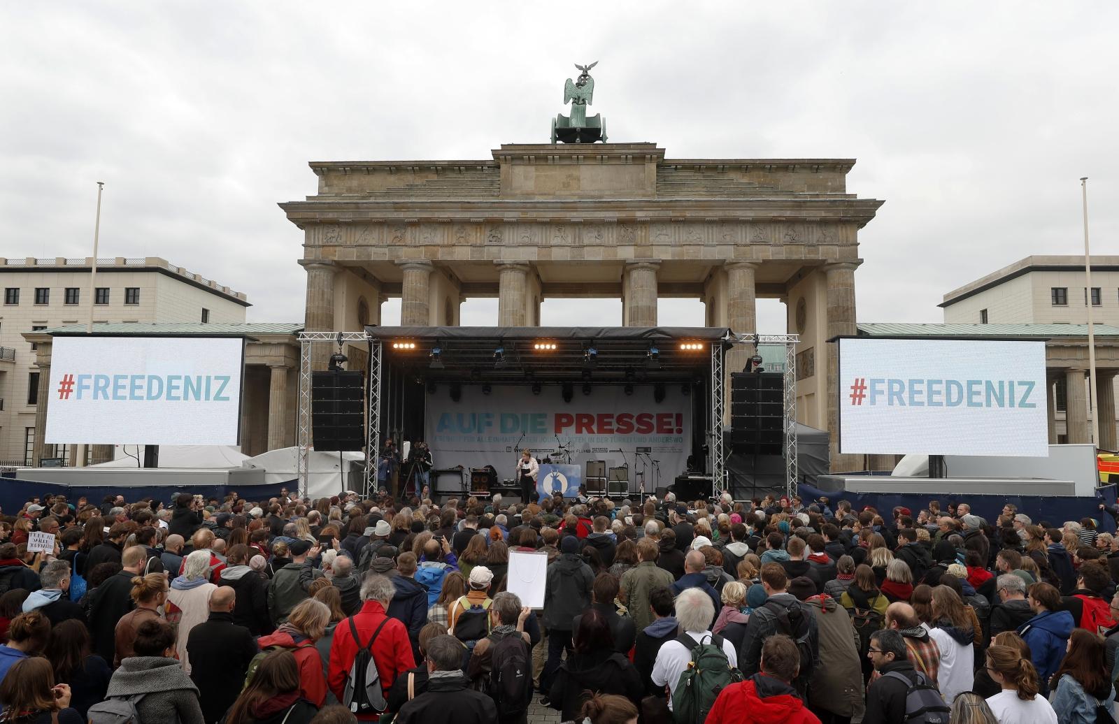 Światowy Dzień Wolnej Prasy, Berlin. Fot. PAP/EPA/FELIPE TRUEBA