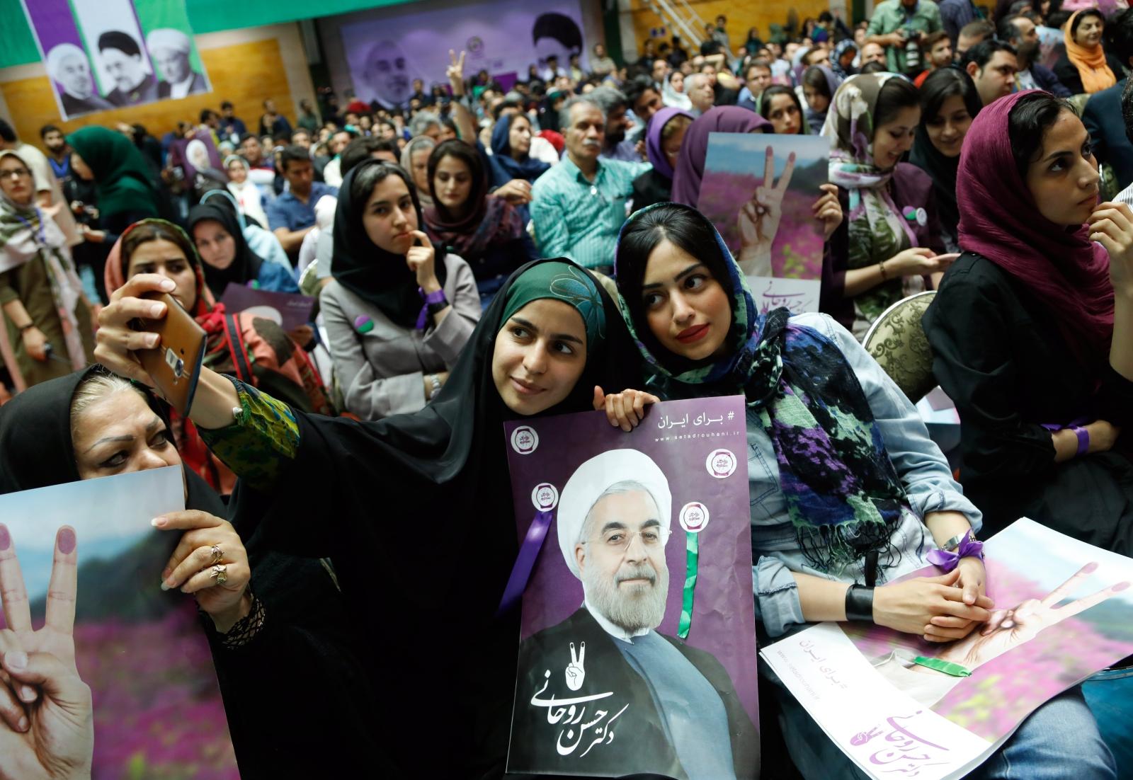 Wybory prezydenckie w Iranie. Fot. PAP/EPA/ABEDIN TAHERKENAREH