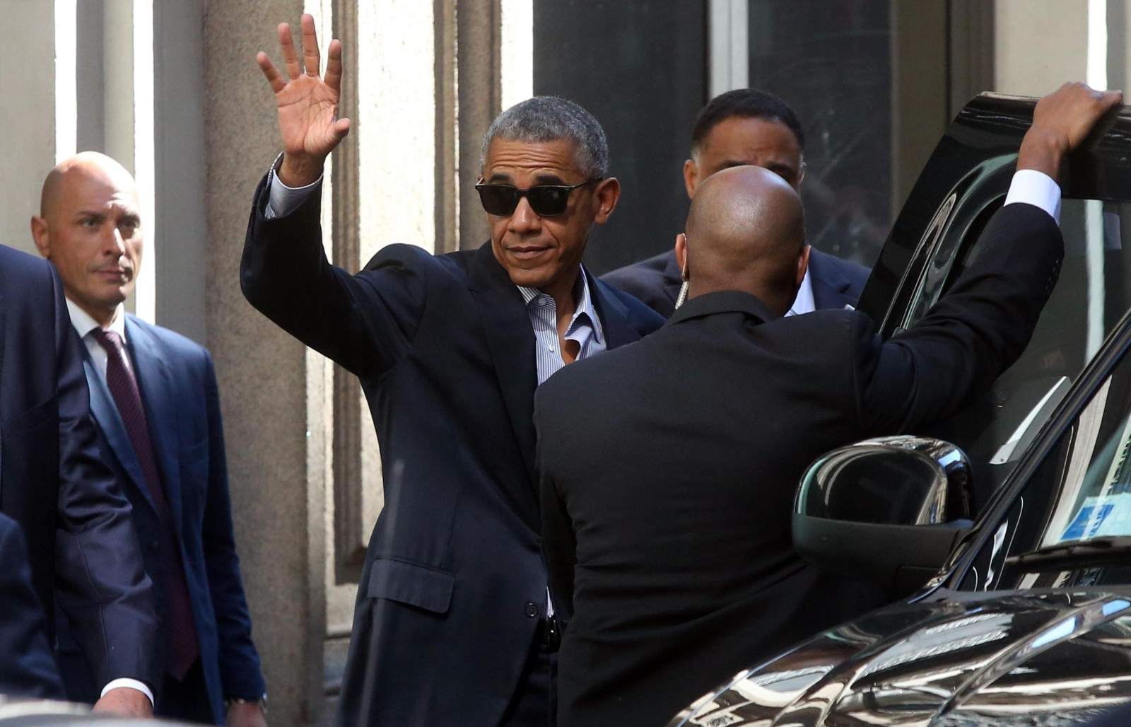 Wizyta Baracka Obamy w Mediolanie. fot. EPA/MATTEO BAZZI