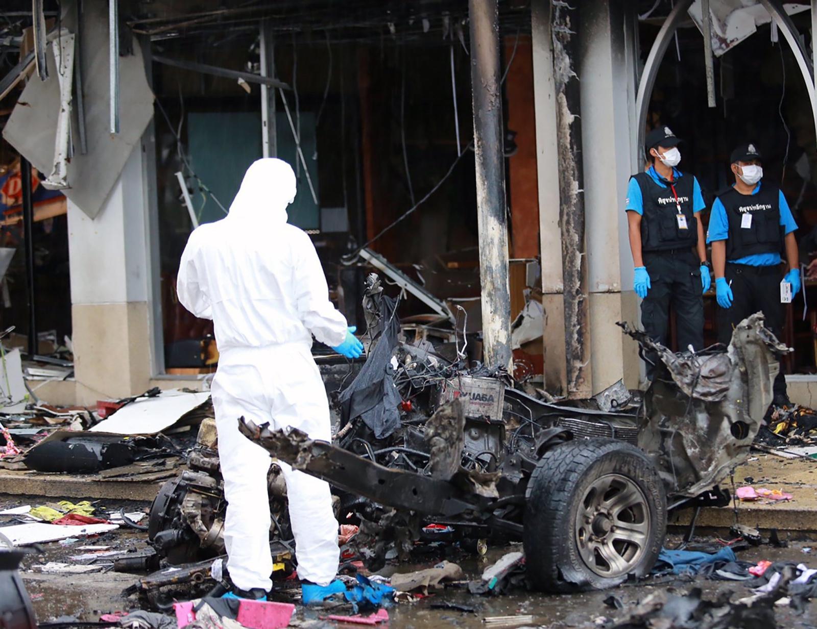 Tajlandia, ponad 50 osób rannych w wyniku wybuchu bomby w supermarkecie. fot. EPA/STR THAILAND OUT