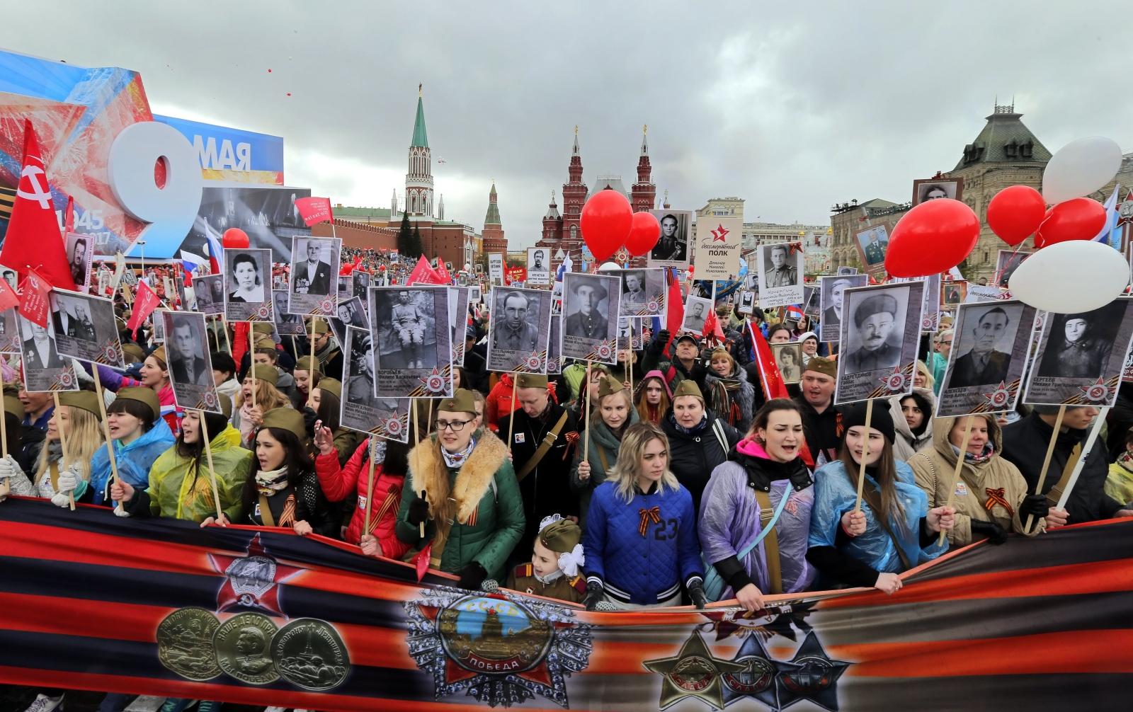 Moskwa, Dzień Zwycięstwa. fot. EPA/YURI KOCHETKOV