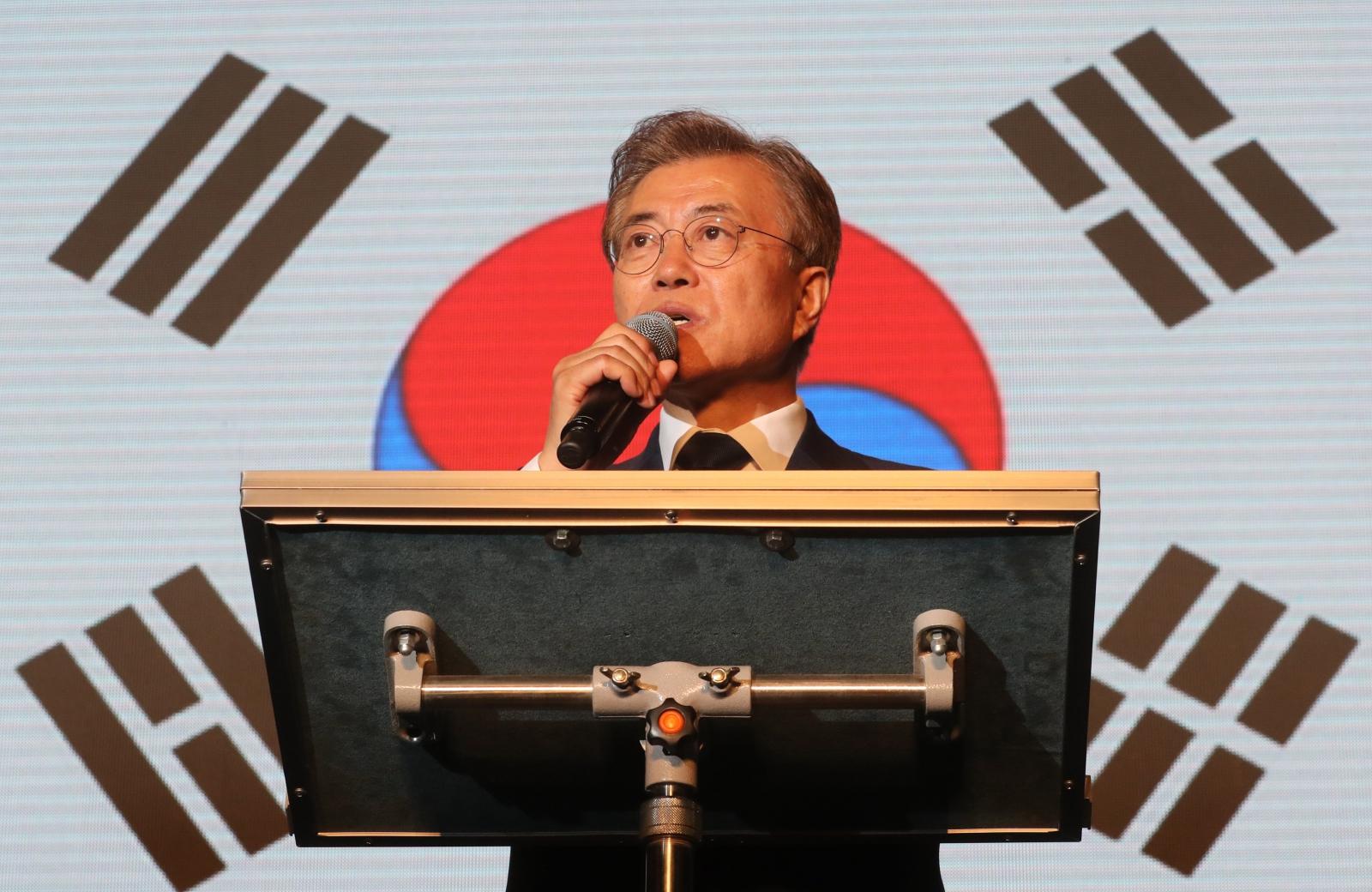 Wybory prezydenckie w Korei Południowej. fot. EPA/YONHAP SOUTH KOREA OUT