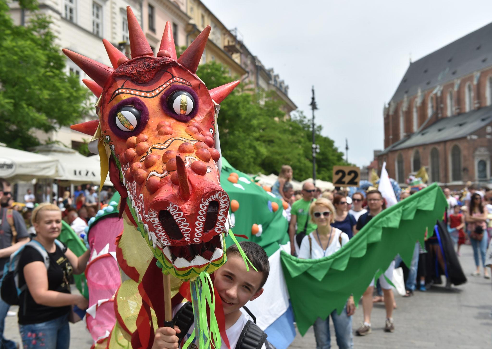 Parada Smoków w Krakowie