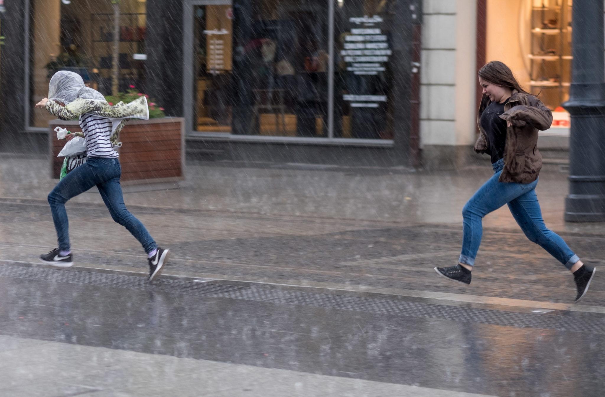 Burza i ulewa w Katowicach