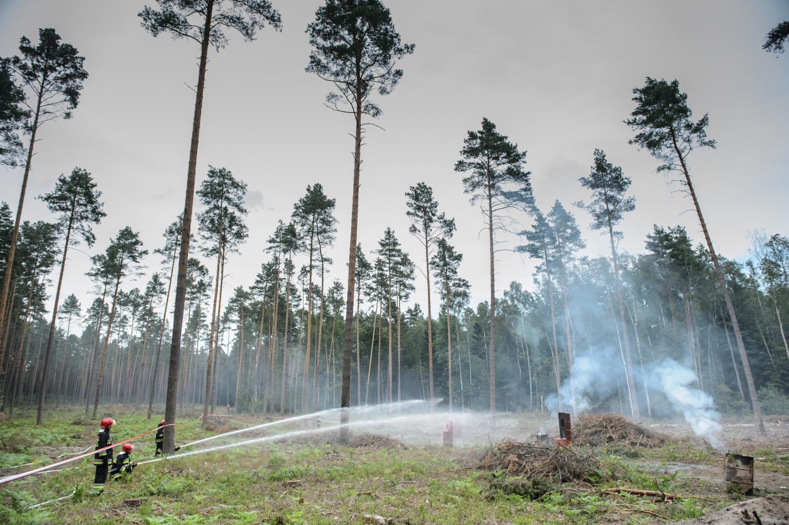 Ćwiczenia gaśnicze w Janowie Lubelskim