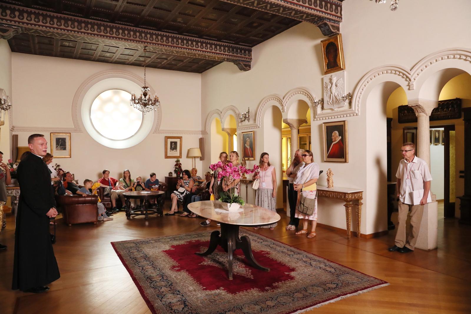 Wizyta w Polskim Papieskim Instytucie Kościelnym na Via Pietro Cavallini. fot: PAP/Grzegorz Gałązka