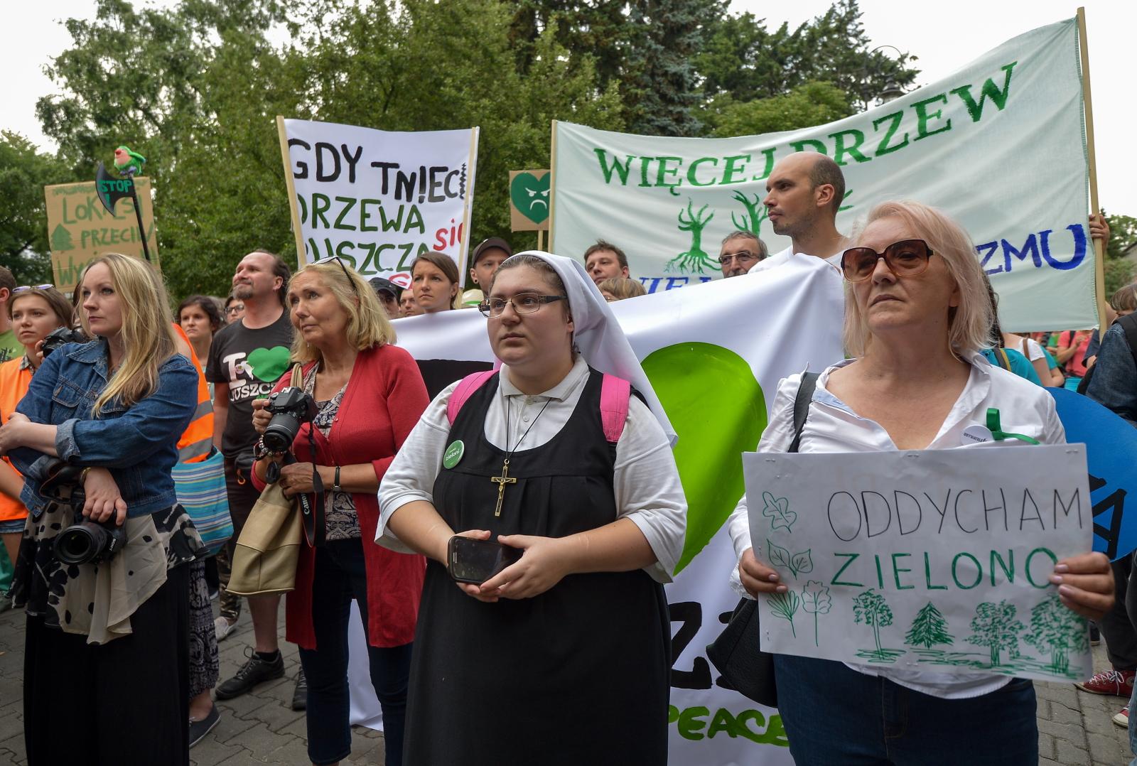 Warszawski Marsz dla Puszczy. fot. PAP/Marcin Obara