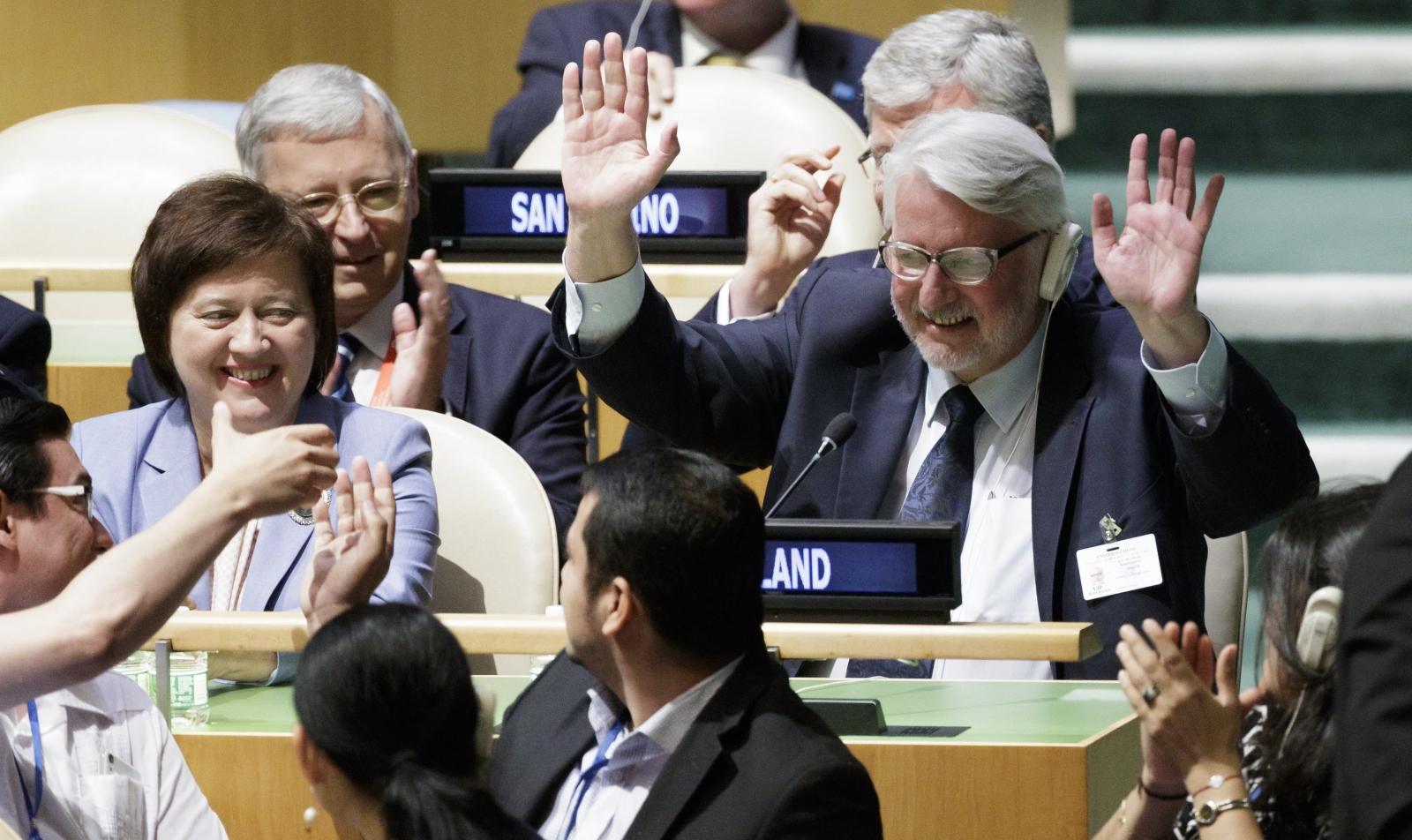 ONZ: Polska członkiem niestałym Rady Bezpieczeństwa ONZ. fot. EPA/JUSTIN LANE