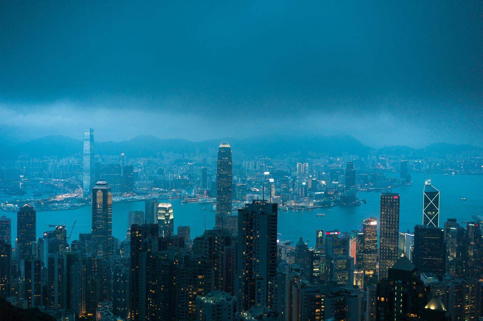 Widok na Hong Kong.