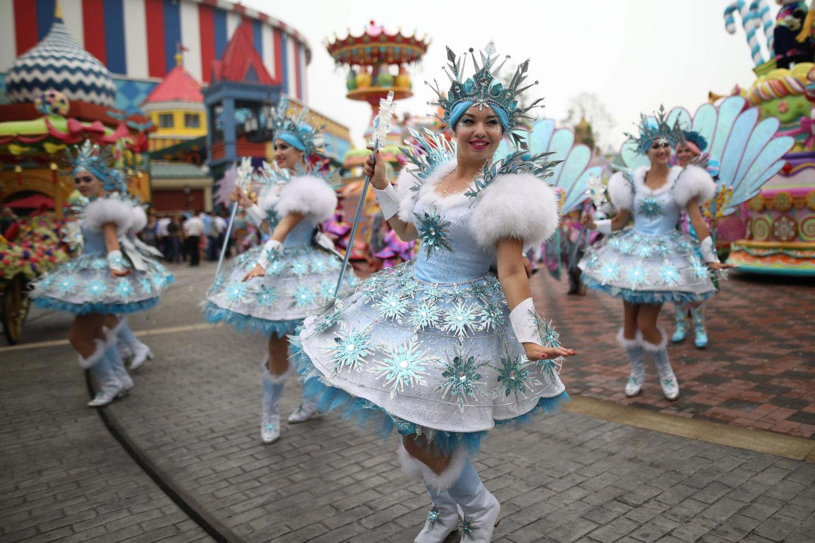 Park rozrywki w Chinach Fot. EPA/WU HONG Dostawca: PAP/EPA.