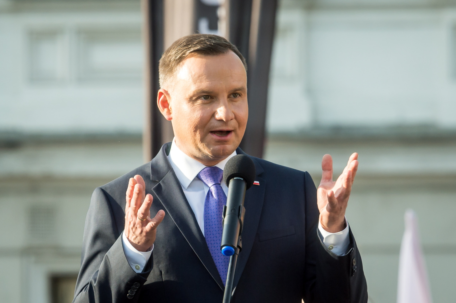 Prezydent Duda w Wągrowcu, fot: PAP / Tytus Żmijewski
