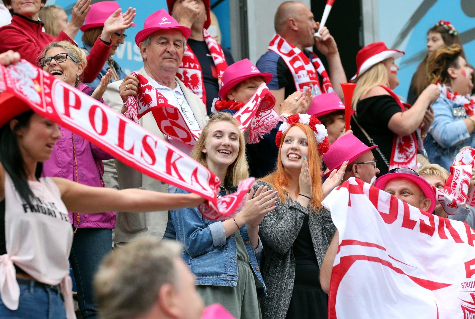Polscy kibice na Grand Prix w Wiśle. fot. PAP/Grzegorz Momot