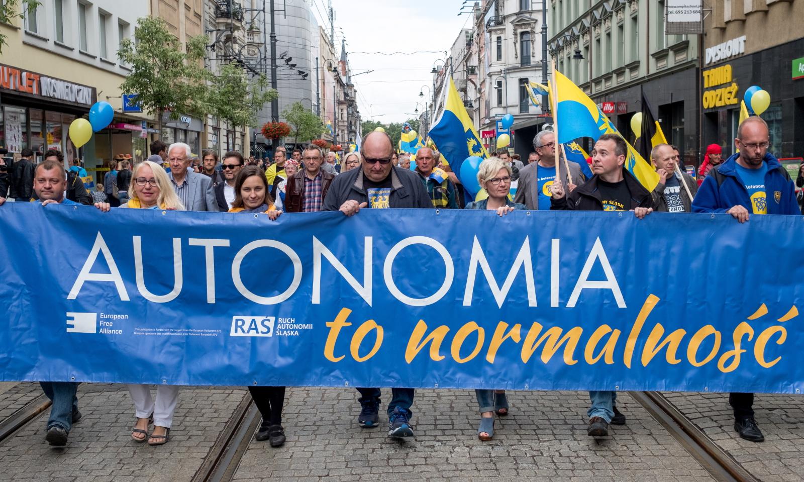 Marsz Autonomii Śląska Fot. PAP/Andrzej Grygiel