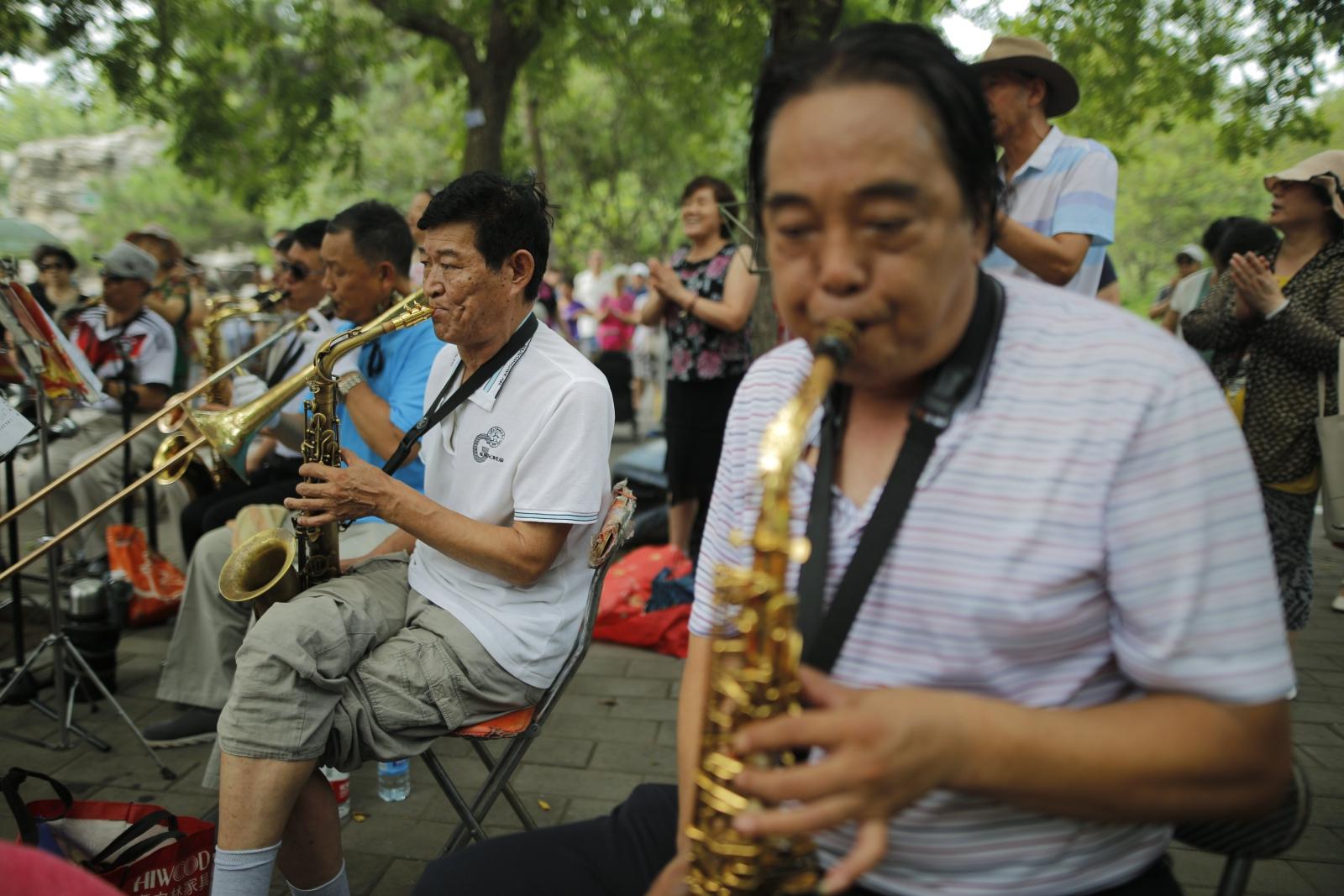 Lokalny festyn w Pekinie. Fot.  EPA/WU HONG Dostawca: PAP/EPA.