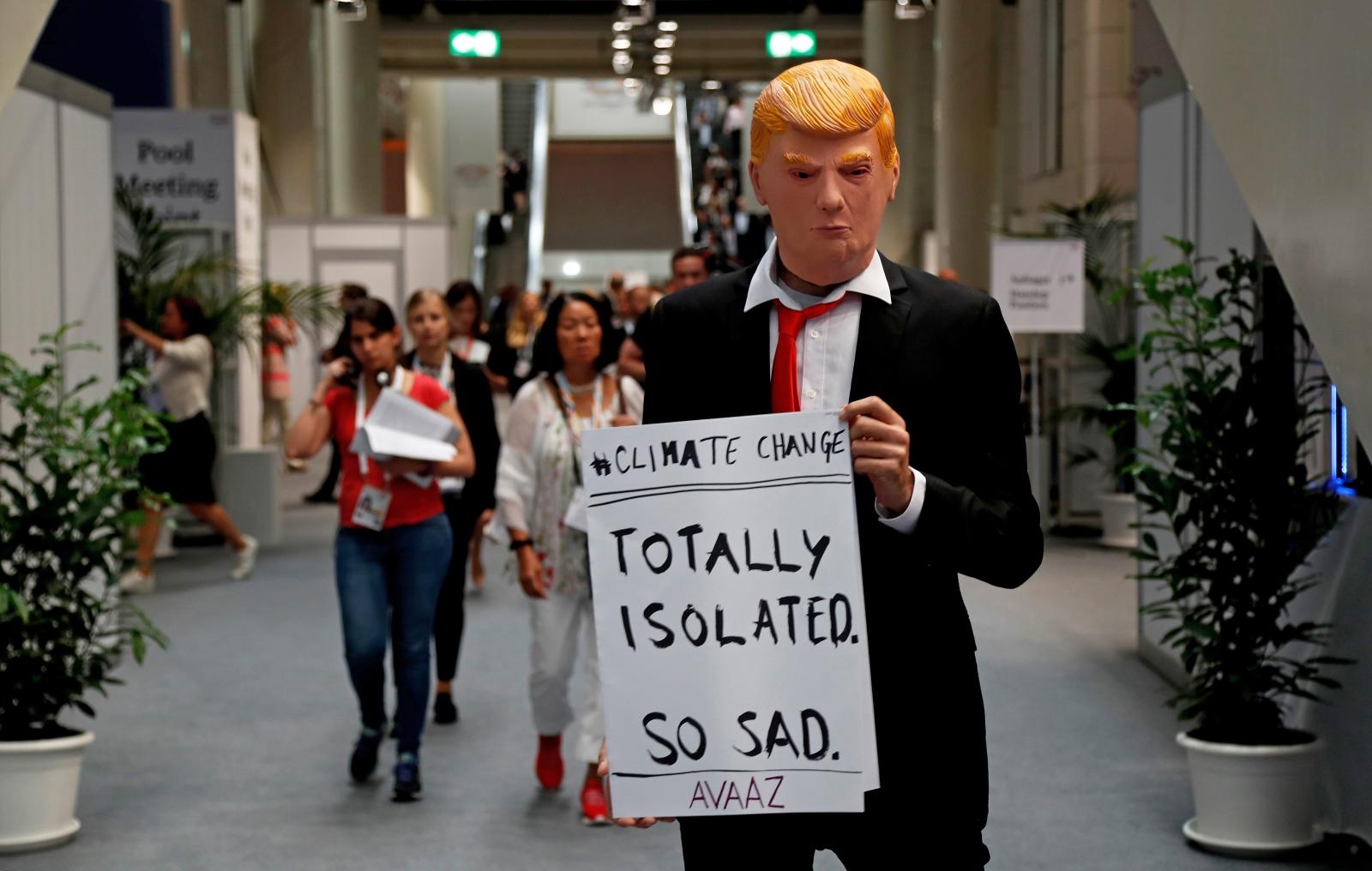 Krytyk Donalda Trumpa w czasie szczytu G20 w Hamburgu.