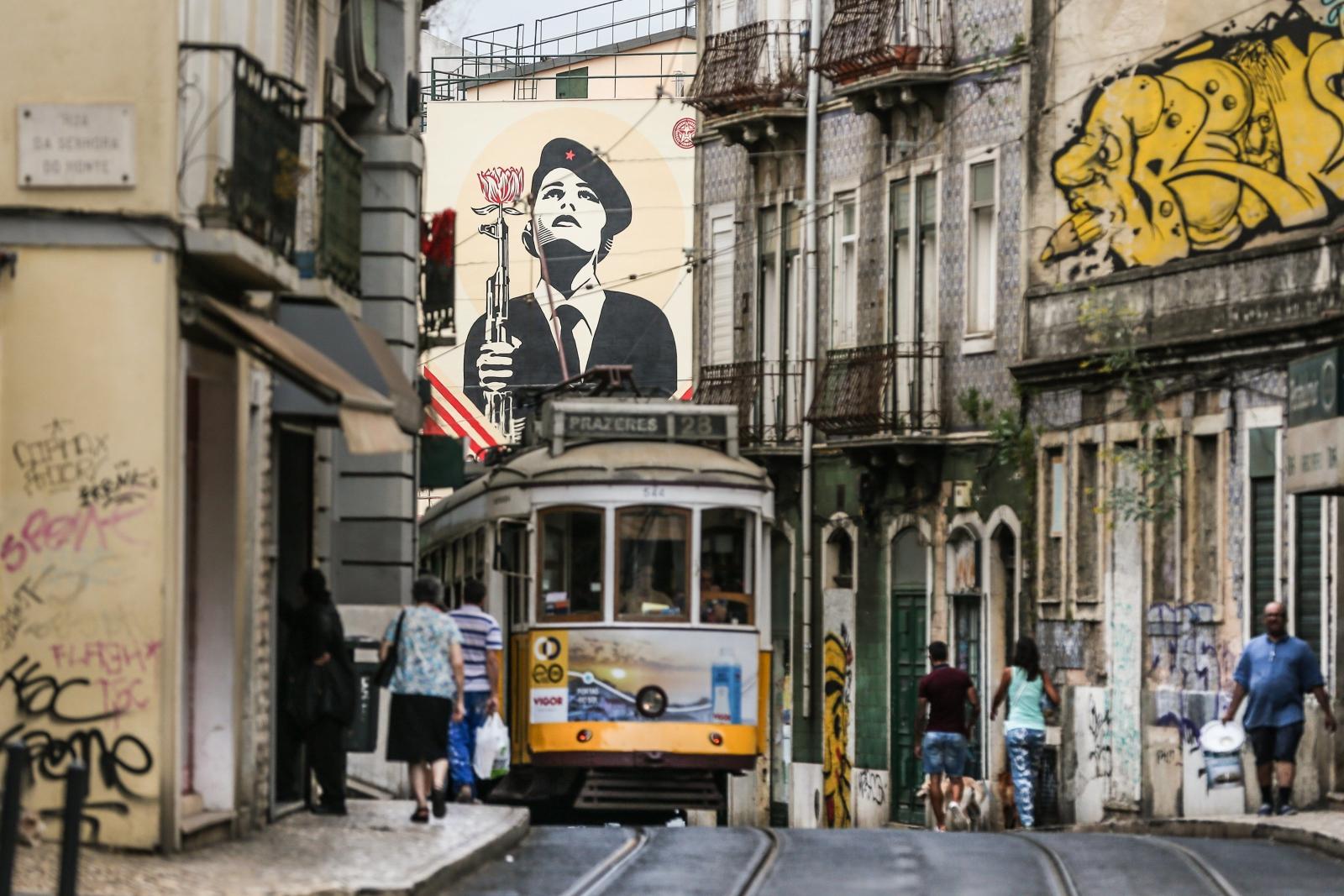 Wielki mural w Lizbonie, Portugalia