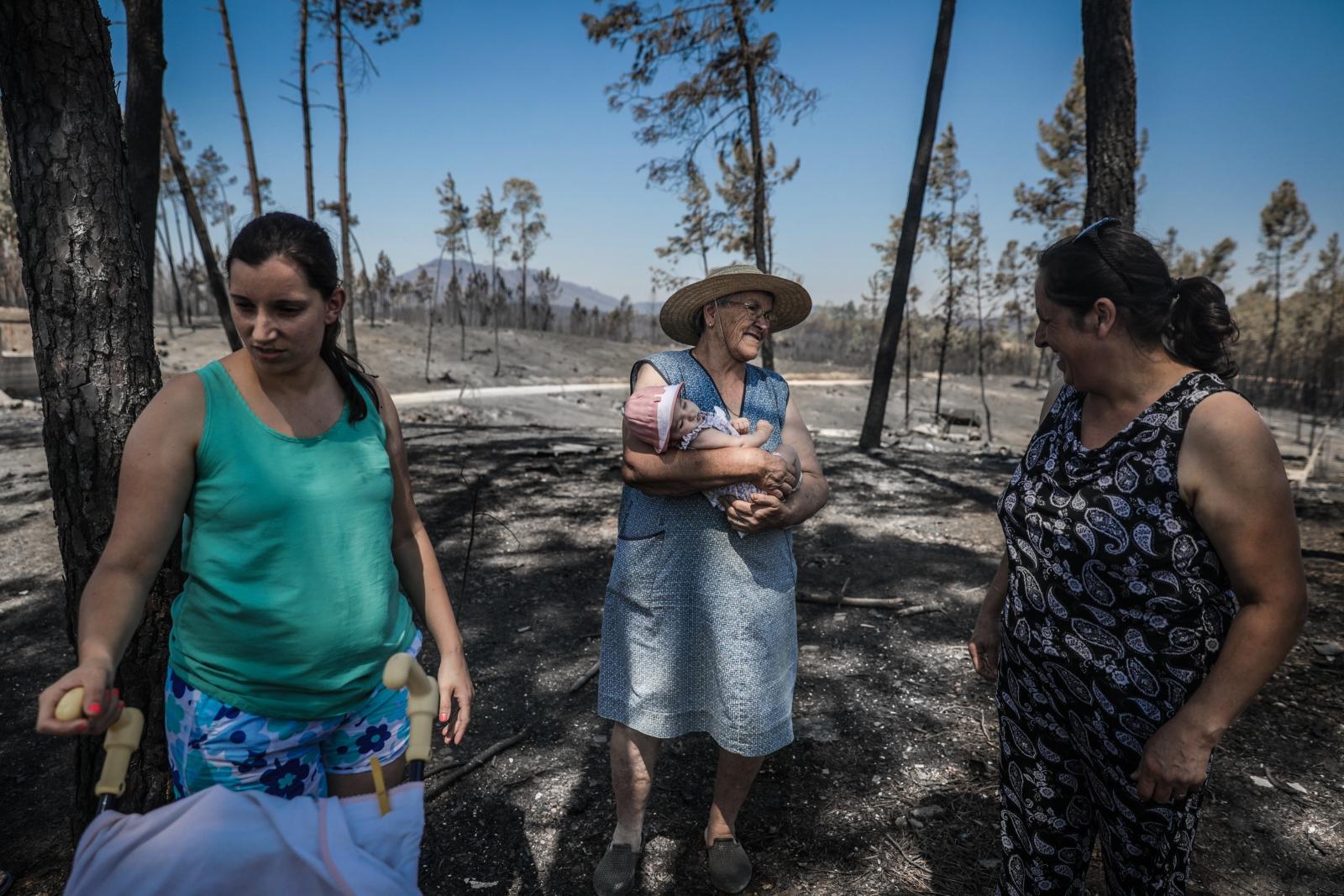 Skutki pożarów w centralnej Portugalii