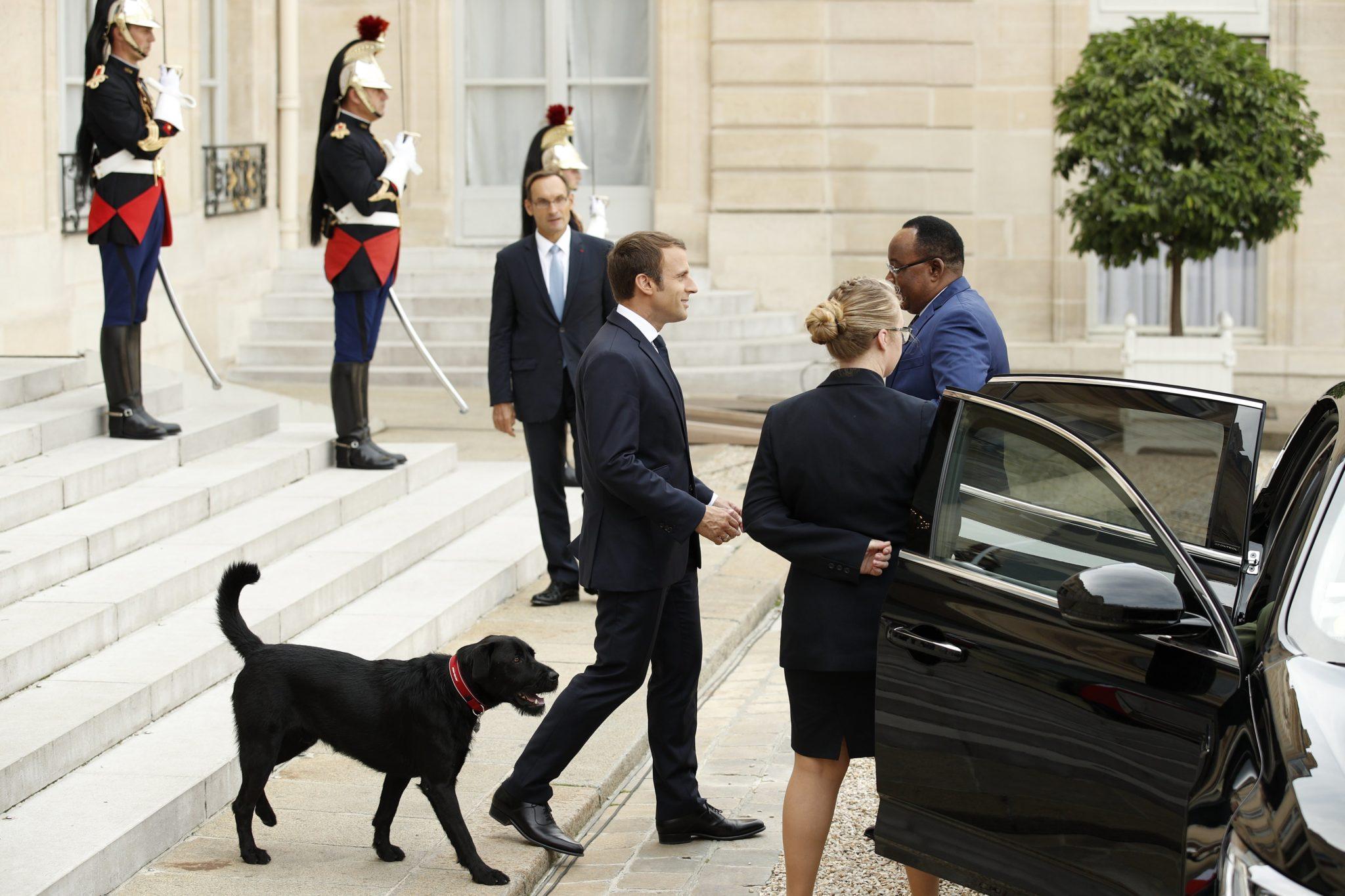 Prezydent Francji wizyta prezydenta Nigerii, rozmowy między innymi o migracji, fot: Yoan Valat, PAP/EPA