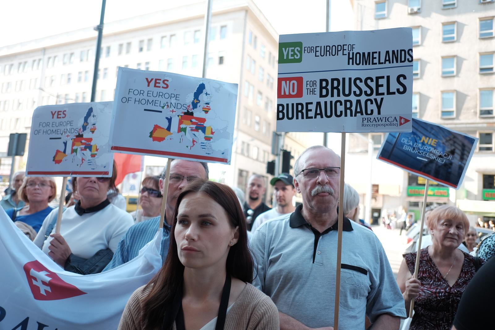 Protest Prawicy Rzeczypospolitej Marka Jurka, Warszawa