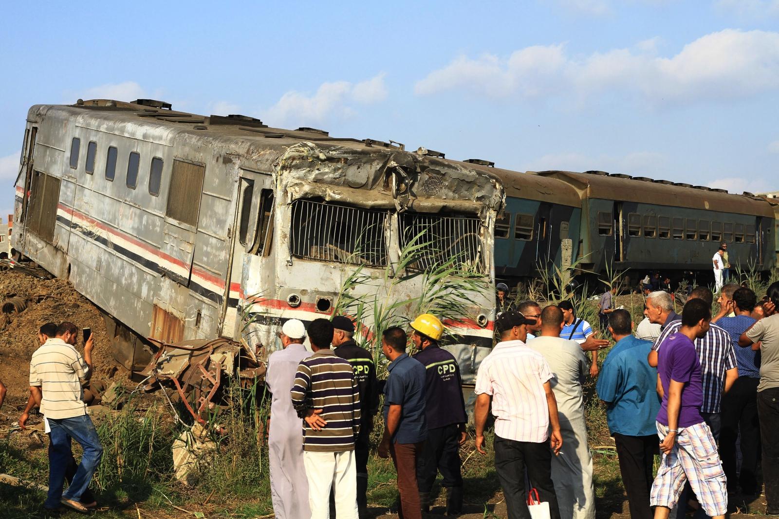 Katastrofa kolejowa w Egipcie EPA/HAZEM GOUDA