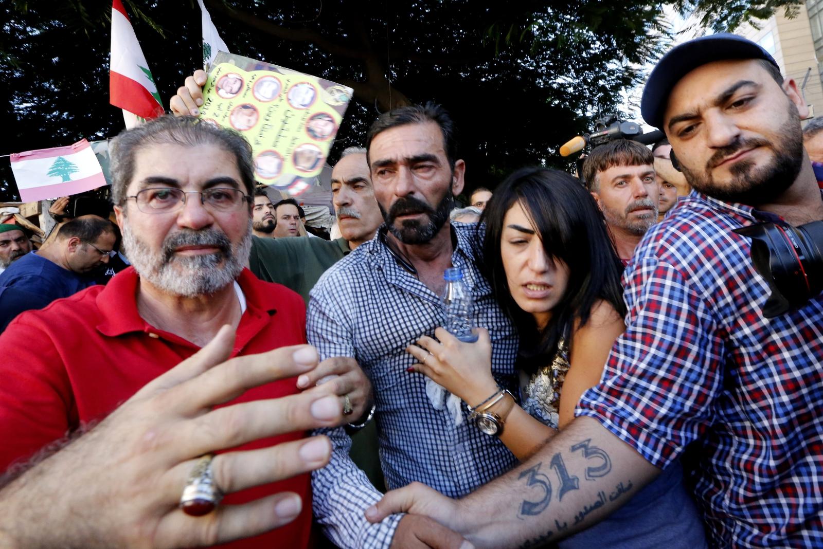 Rodziny osób, porwanych przez tzw. Państwo Islamskie, Beirut, Liban