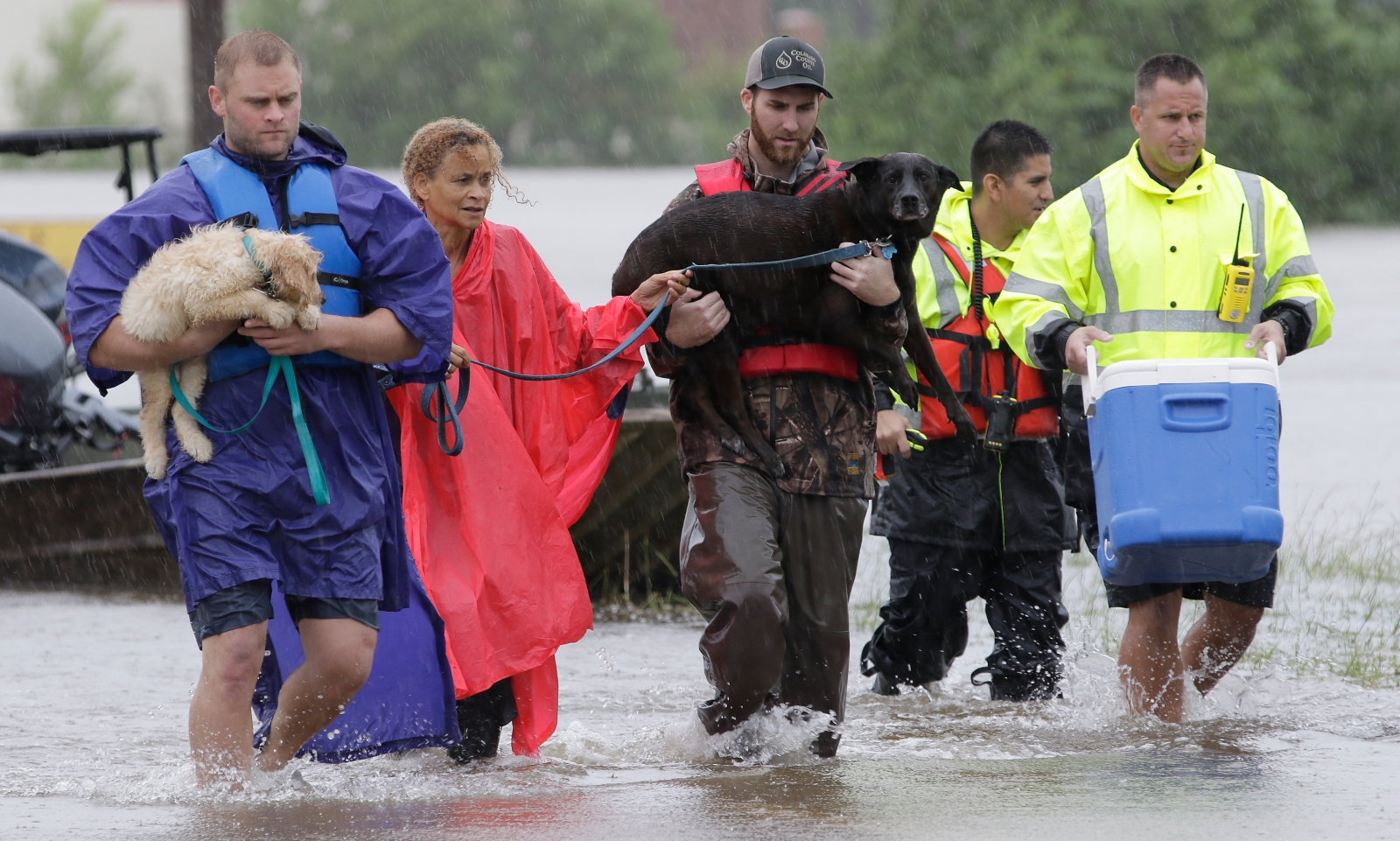 Texas, USA,  powódź EPA/MICHAEL WYKE