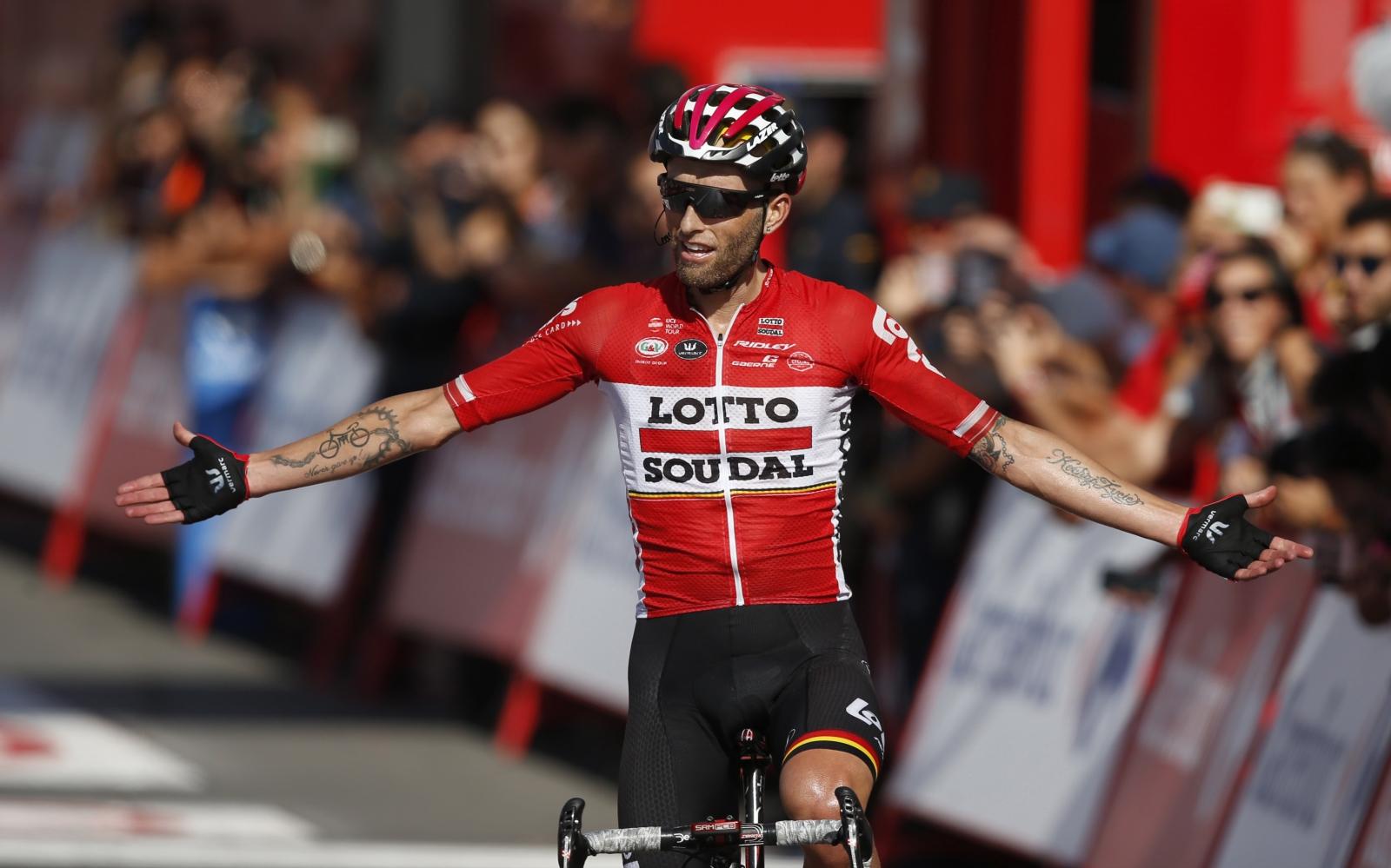Polak Tomasz Marczynski wygrał 12 etap Vuelta a Espana  EPA/JAVIER LIZON
