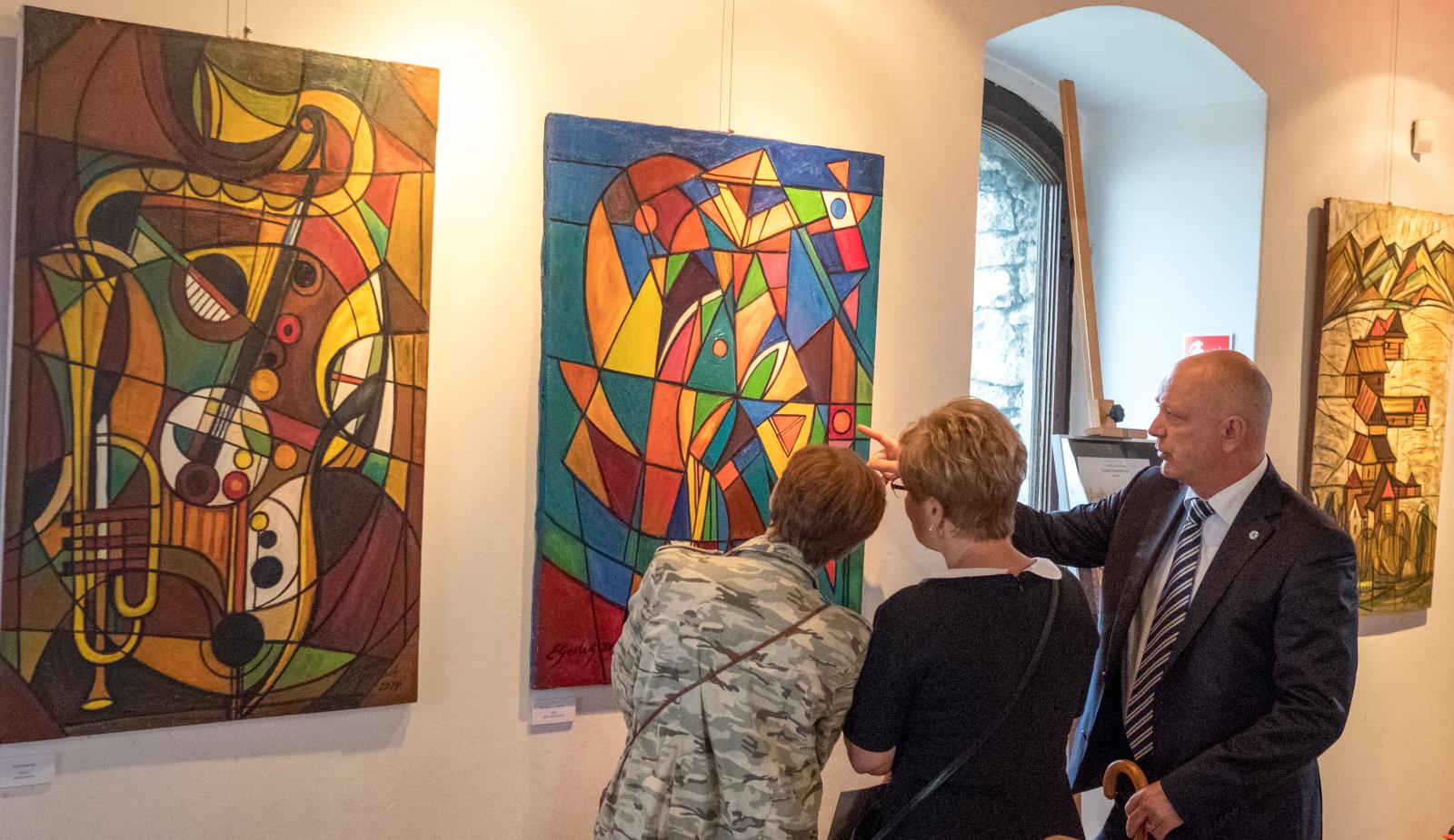 Będzin, wystawa Zbigniewa Gerlacha PAP/Andrzej Grygiel