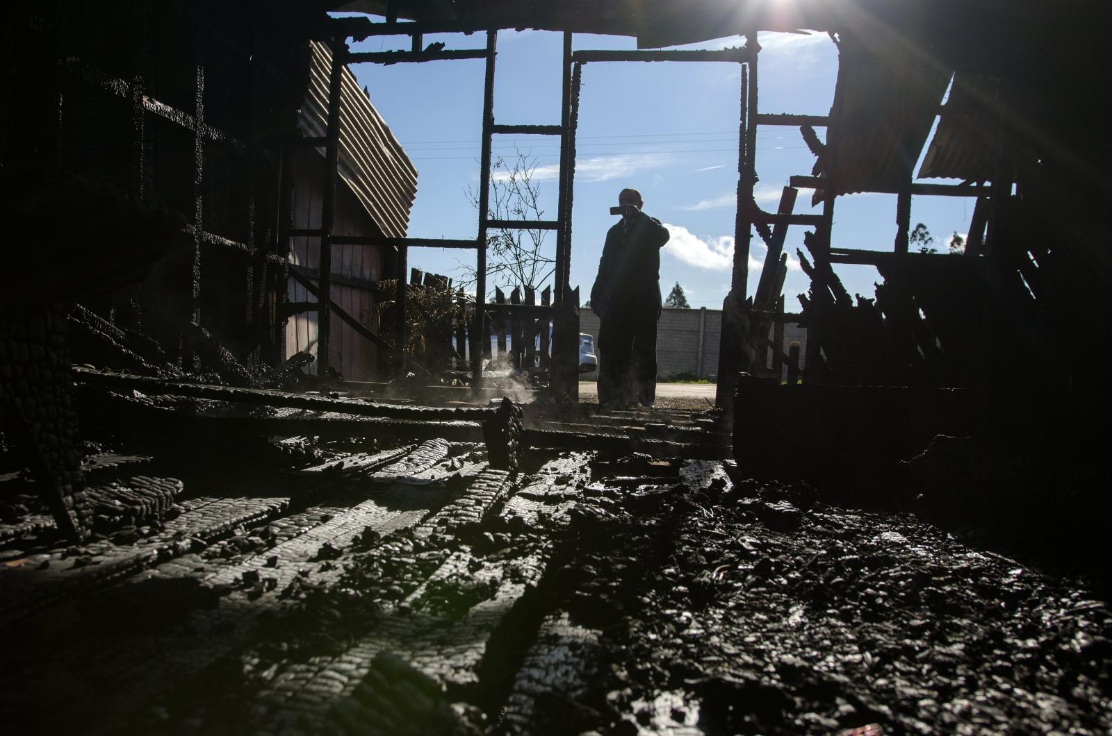 Kościół po ataku w Chile