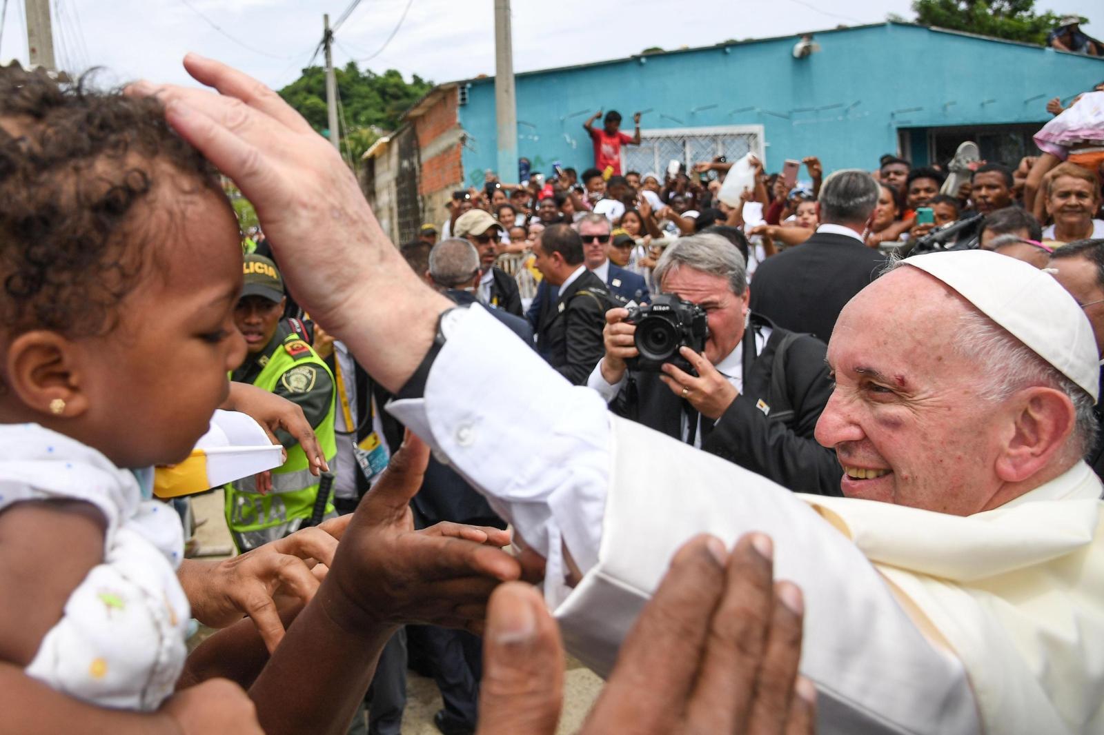 Papież Franciszek w Kolumbii EPA/ALESSANDRO DI MEO