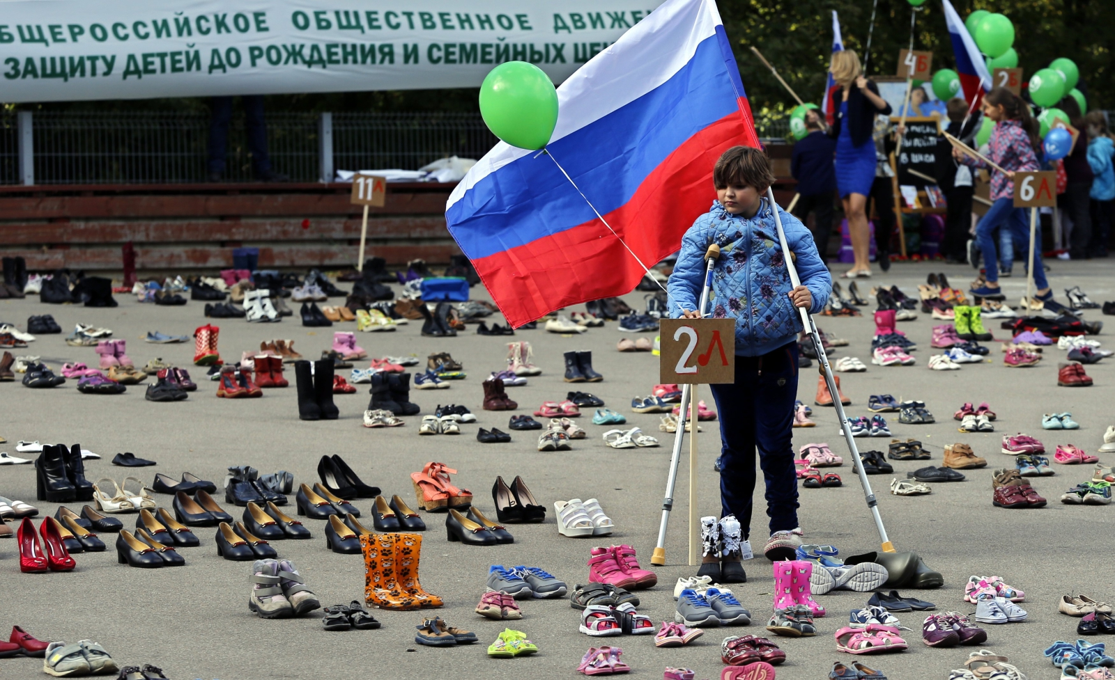 Akcja antyaborcyjna w Rosji  EPA/YURI KOCHETKOV