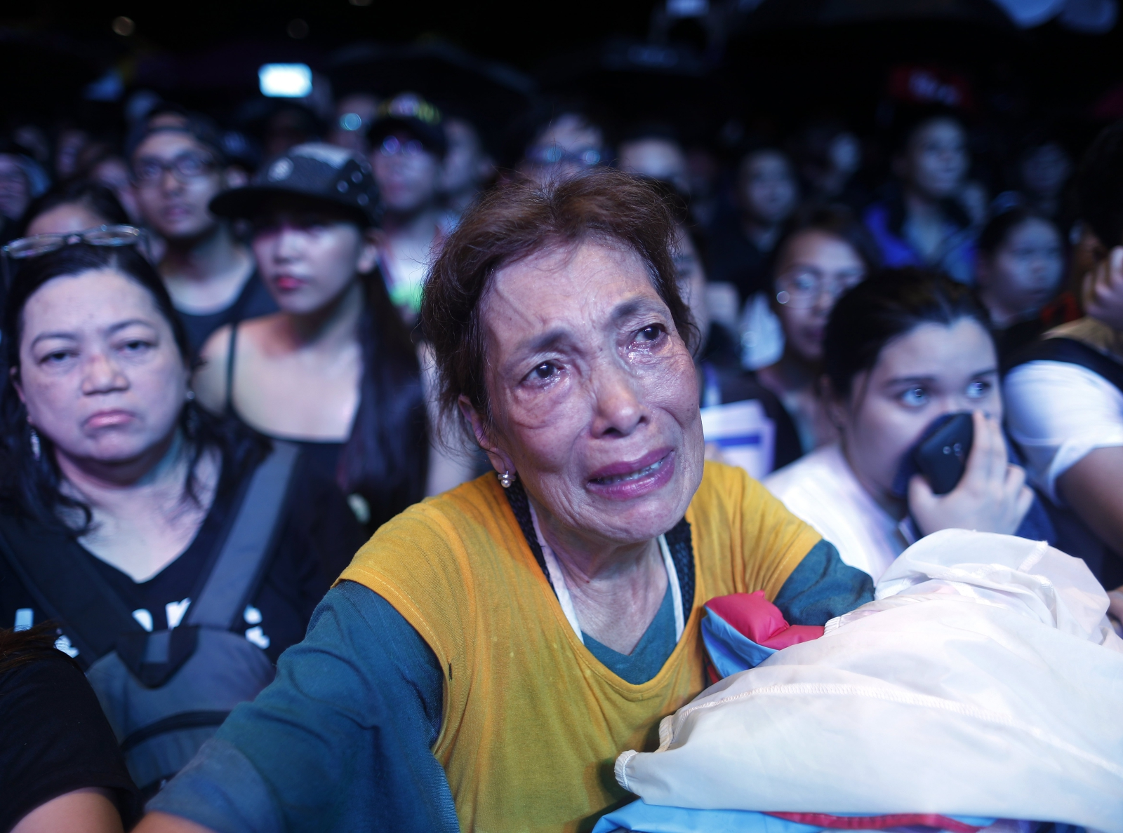 Wiec upamiętniający 45. rocznicę wprowadzenia stanu wojennego, Manila, Filipy