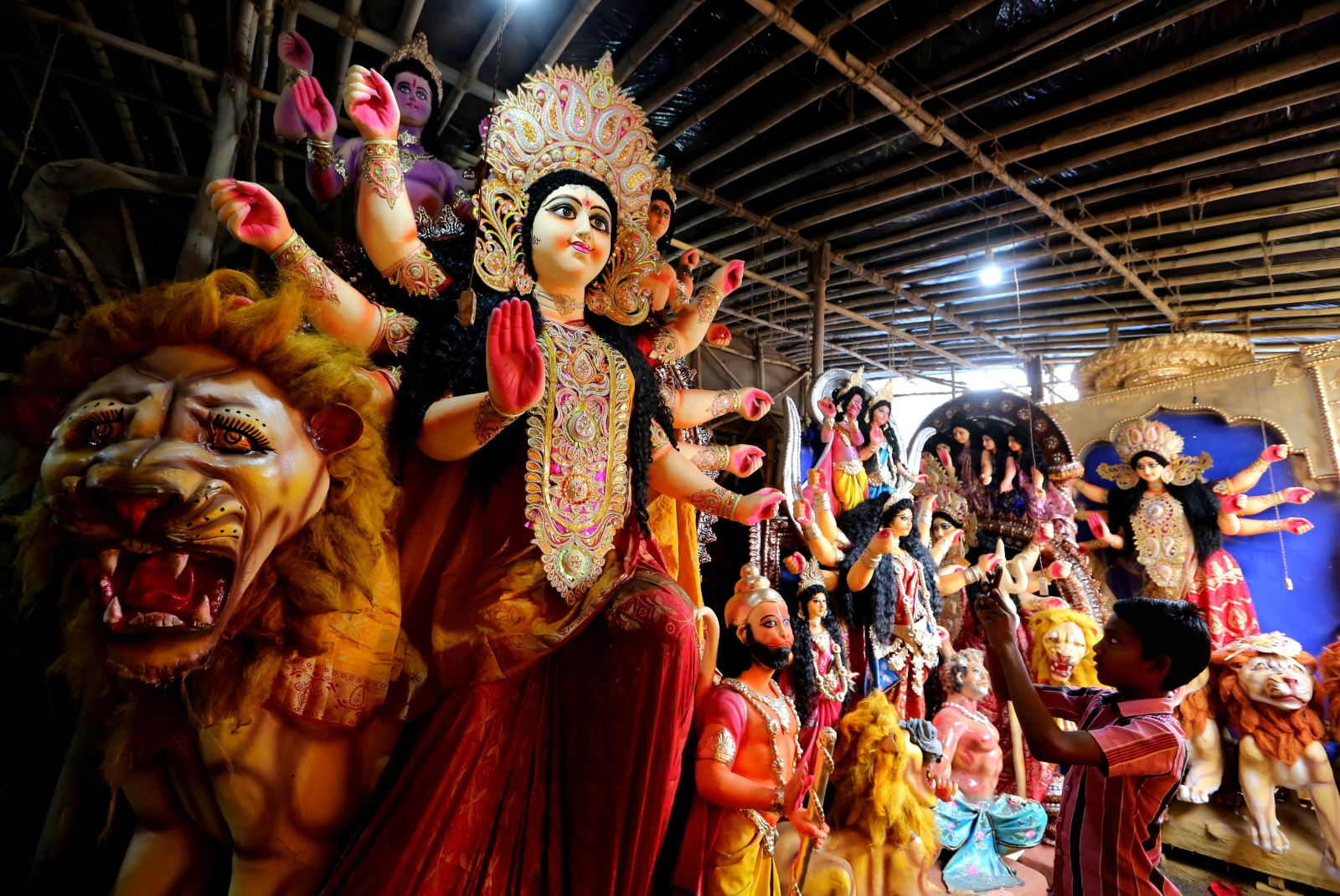 Festiwal Durga Puja w Bhopal, Indie