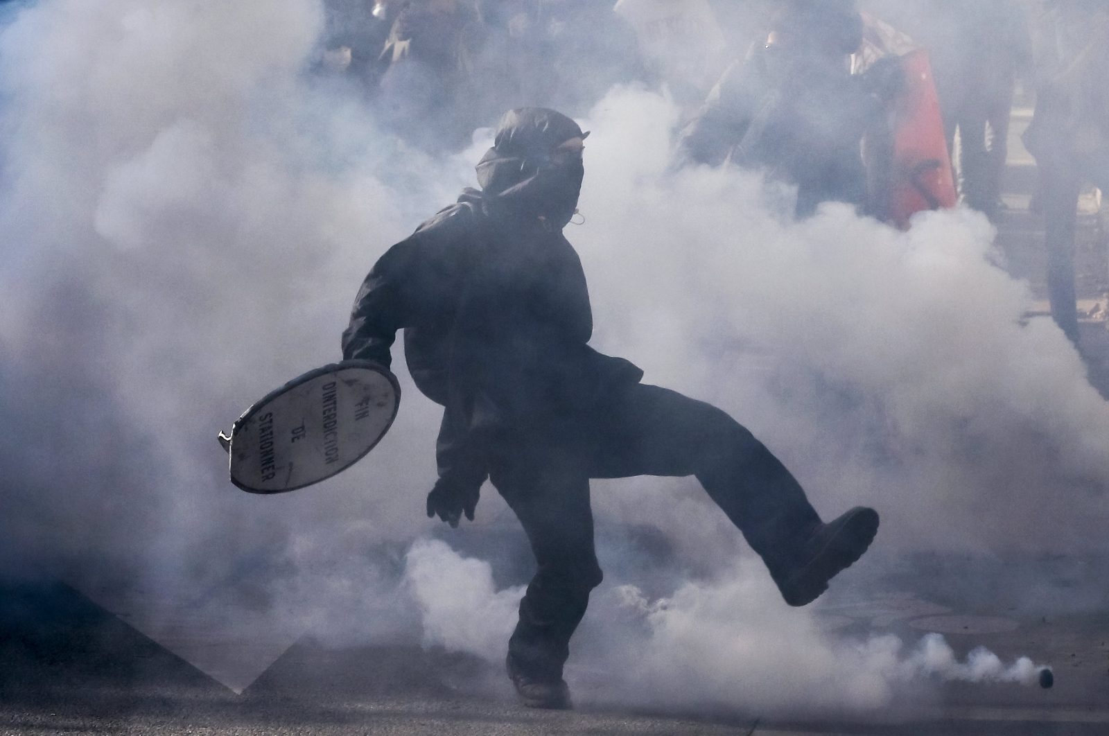 Demonstracje przeciwko reformie prawa pracy prezydenta Macrona, Paryż