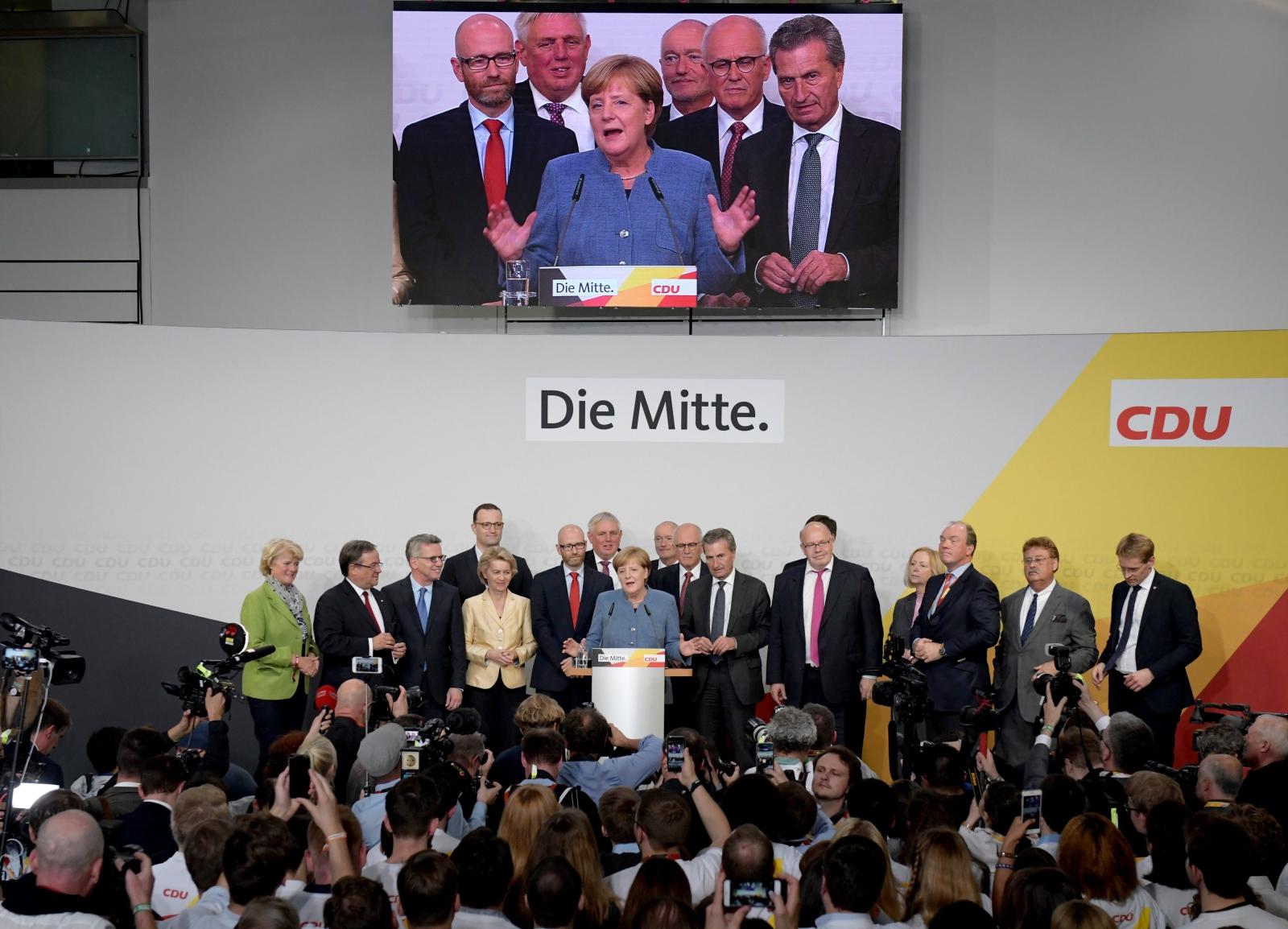 Angela Merkel zwyciężyła w wyborach do Bundestagu