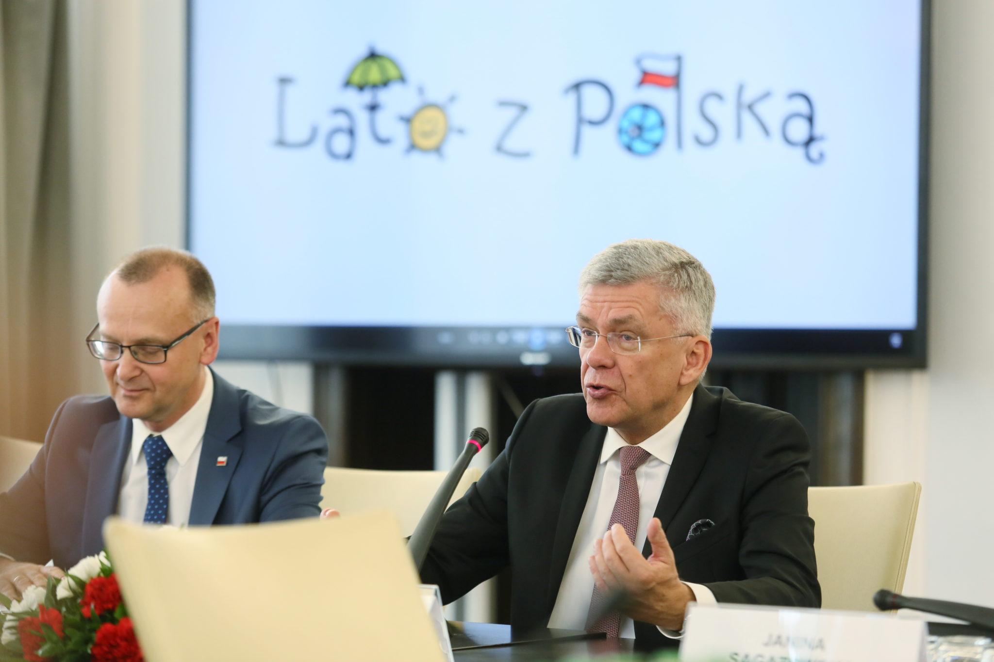 Marszałek Senatu Stanisław Karczewski i prezes stowarzyszenia
