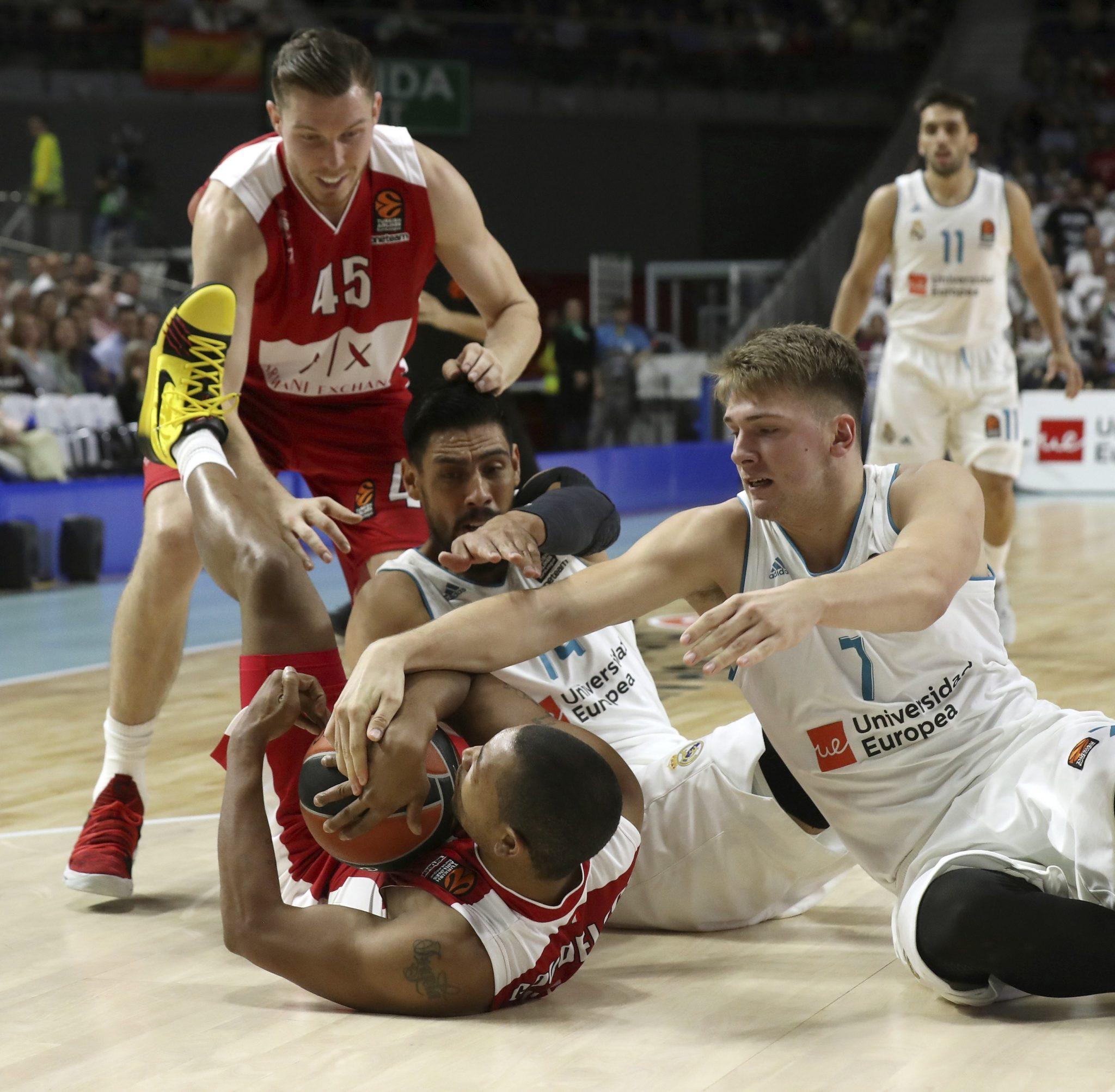 Euroliga koszykówki między Real Madryt a Armani Milano, fot: Kiko Huesca, PAP/ EPA