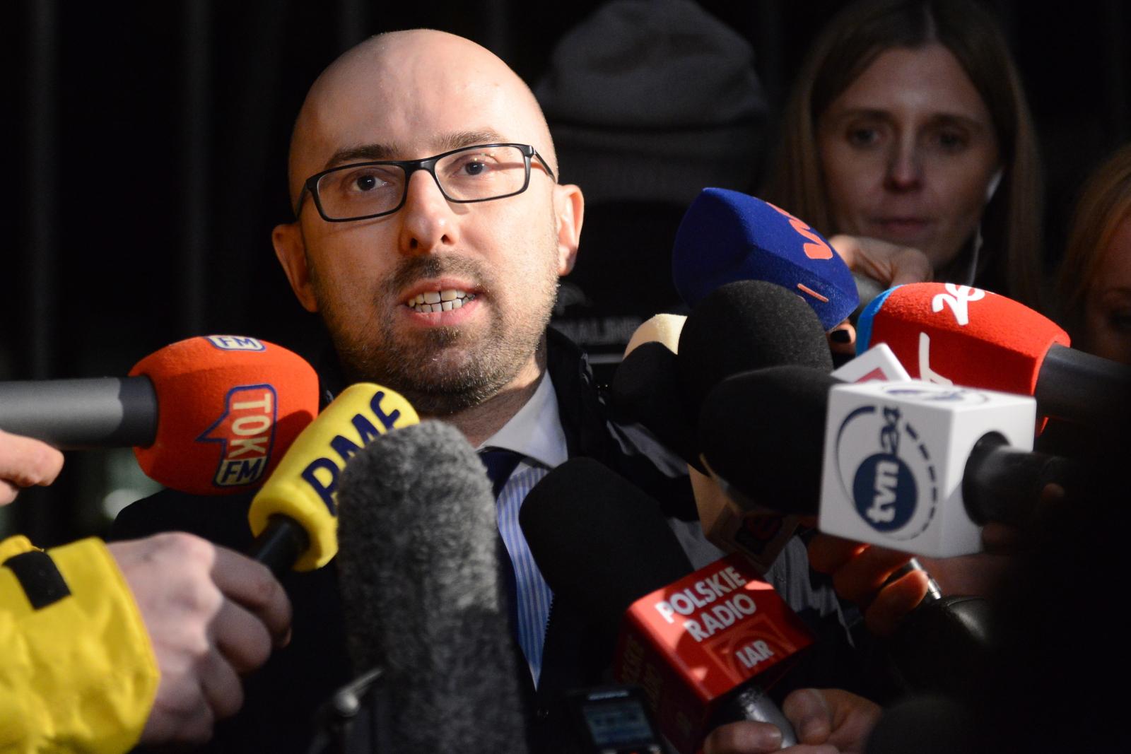 Krzysztof Łapiński po spotkaniu prezydenta Andrzeja Dudy z prezesem Jarosławem Kaczyńskim. fot. PAP/Jakub Kamiński